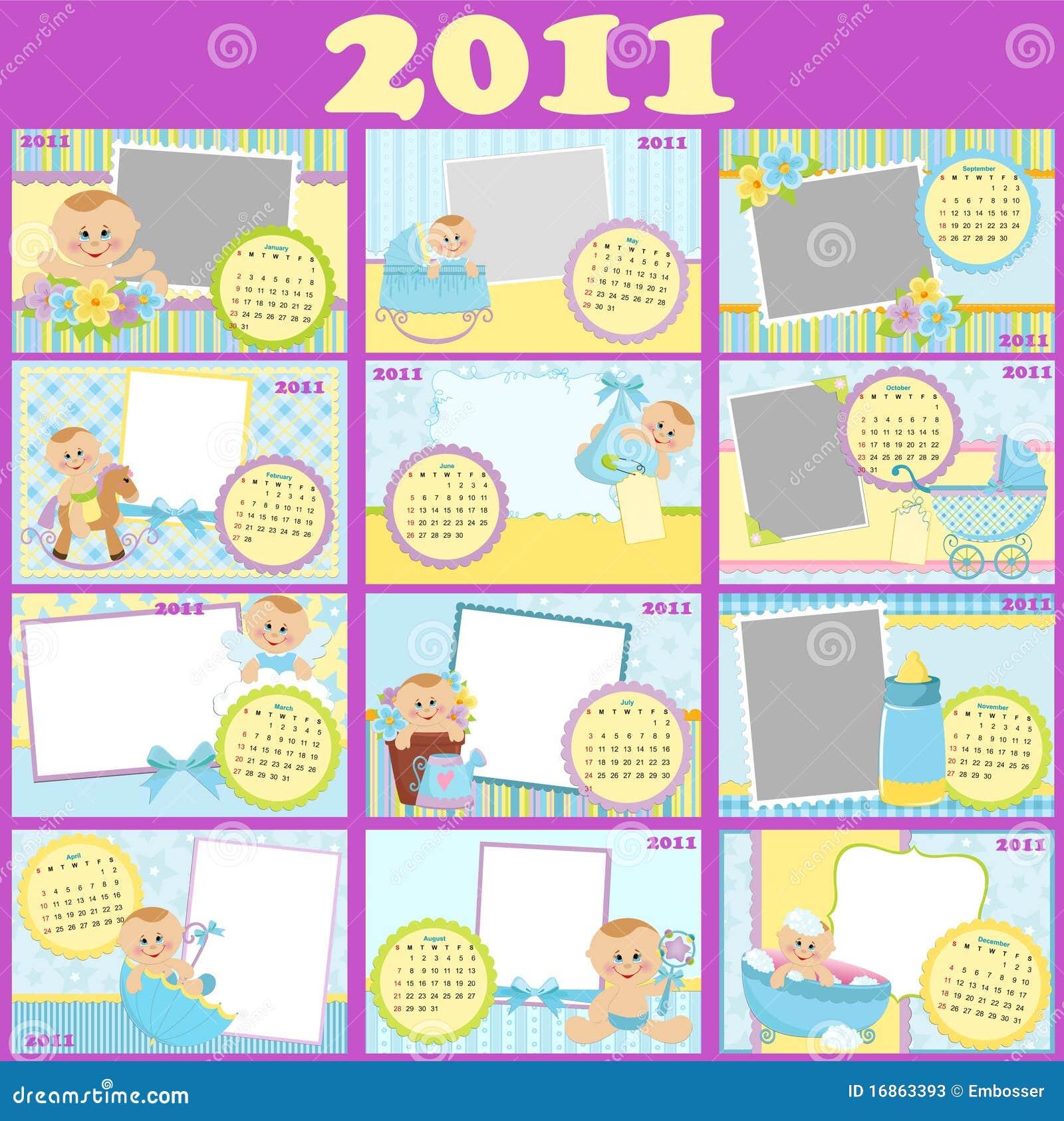 Calendário do bebê para 2011