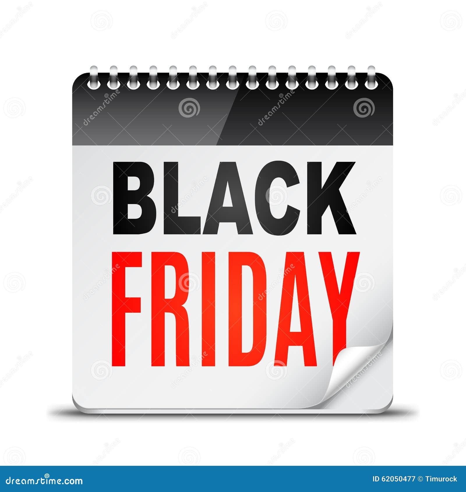 ecff4eae3b Calendário Do Dia De Black Friday Ilustração do Vetor - Ilustração ...