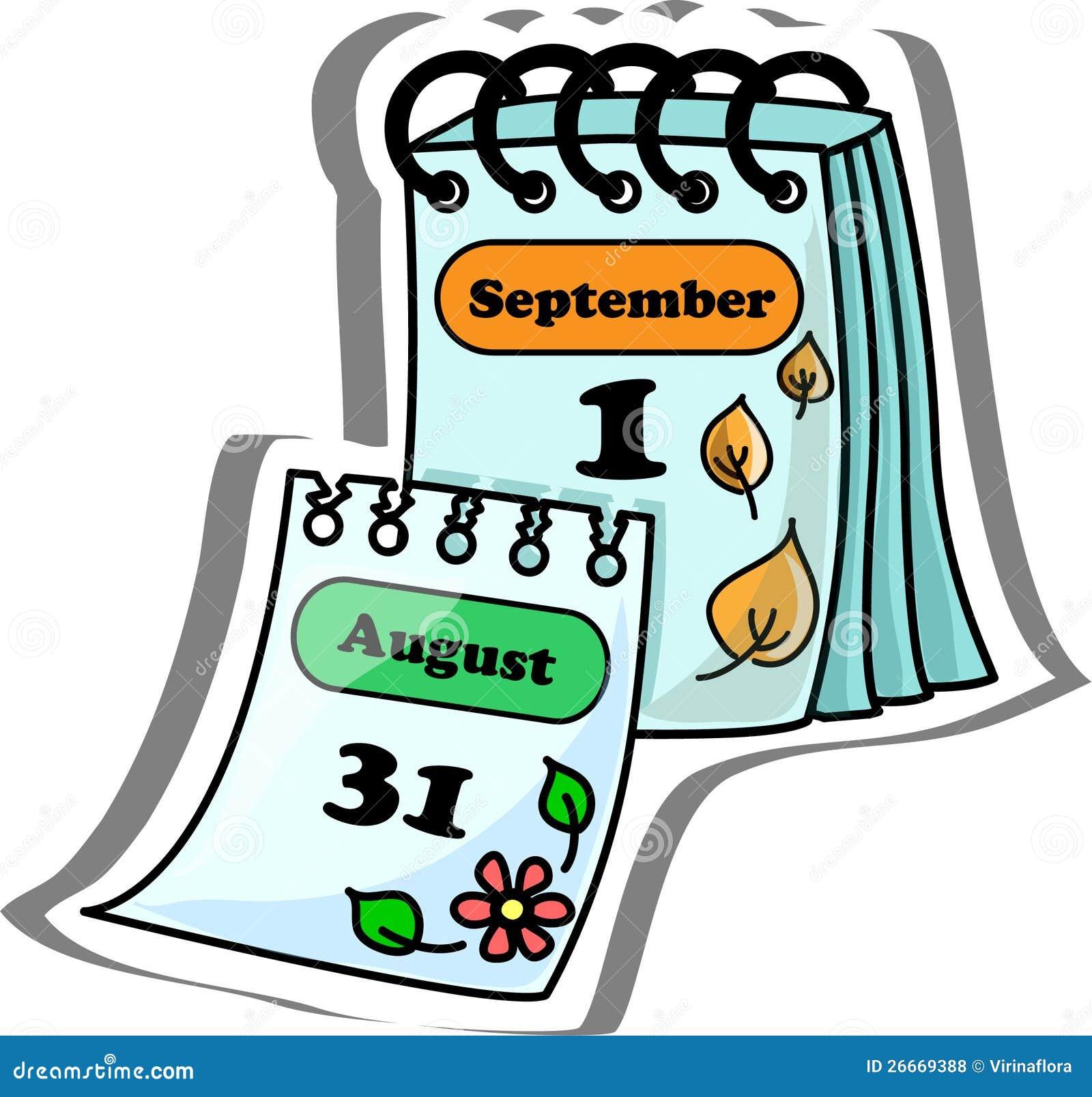 Calendario Dos Desenhos Animados Ilustracao Do Vetor Ilustracao