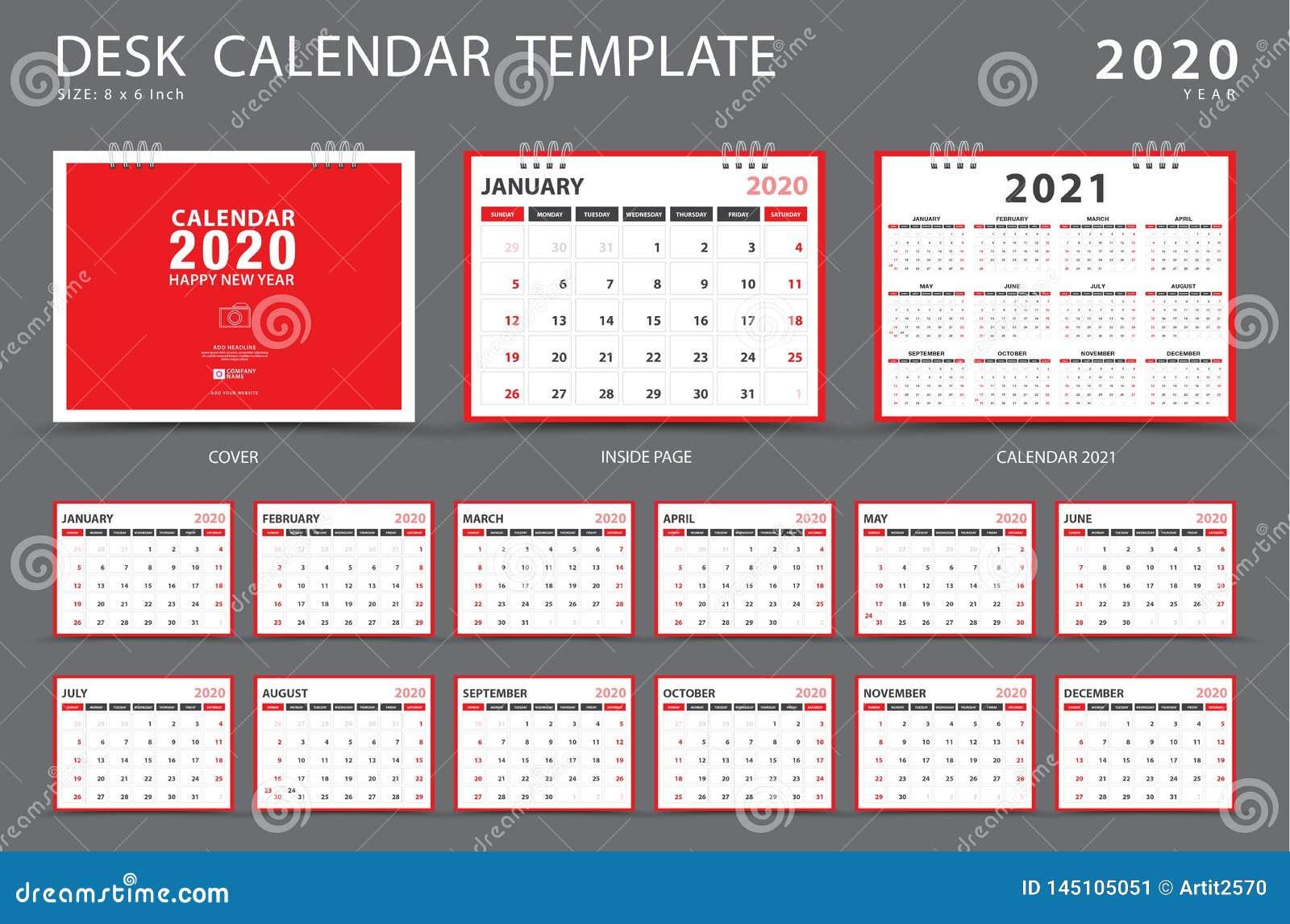 Calendario 2020 Semanas.Calendario 2020 Molde Do Calendario De Mesa Grupo De 12