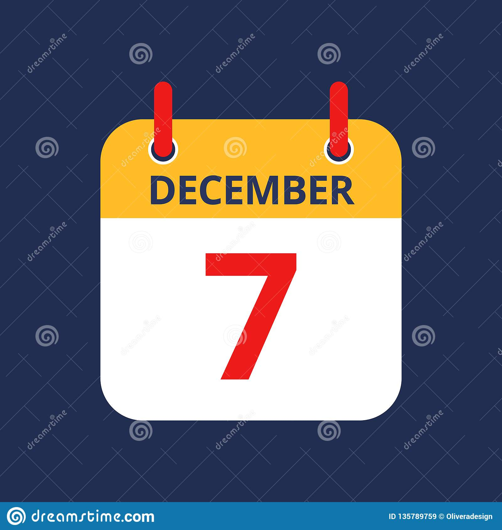 Calendário 7o dezembro