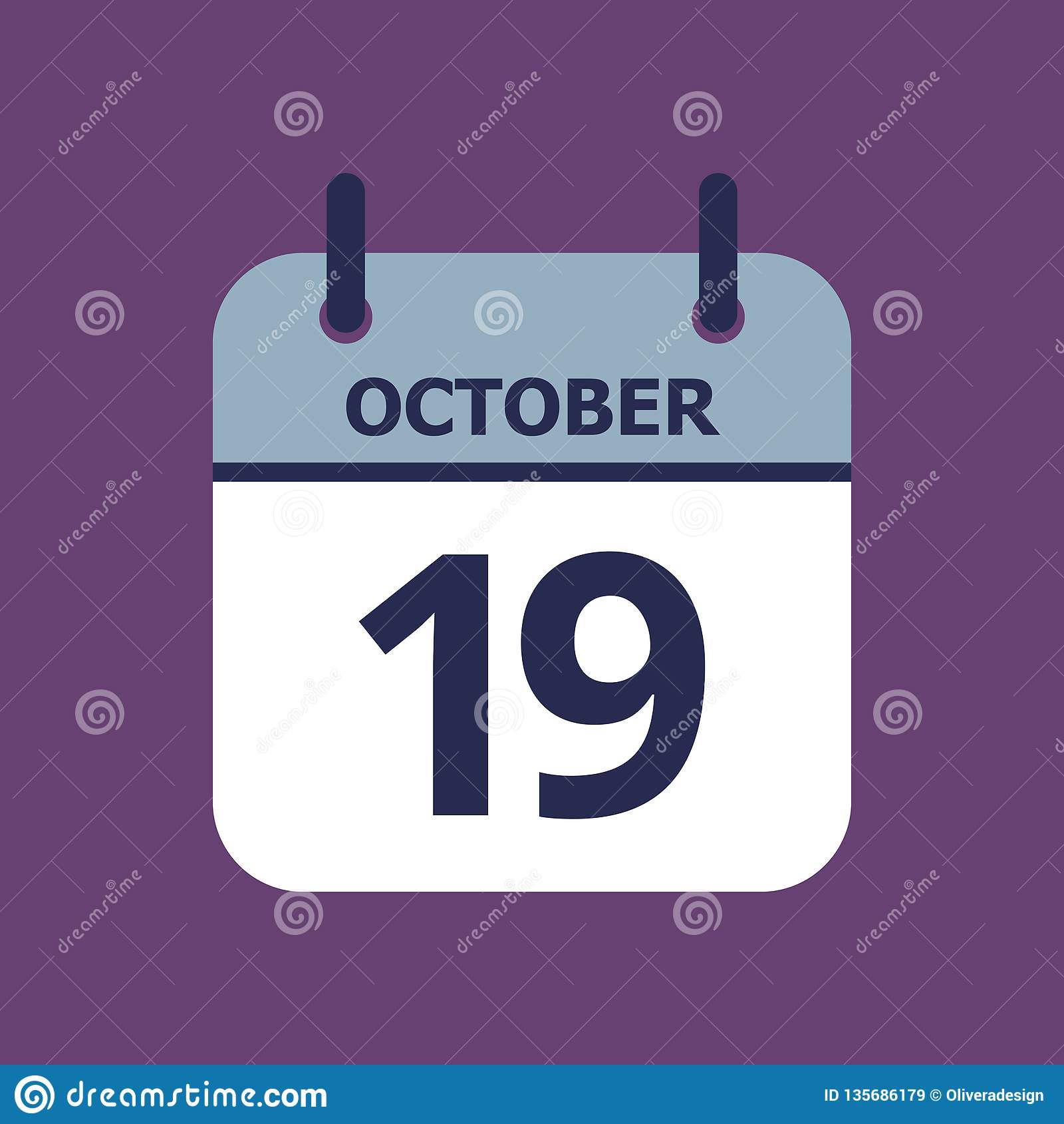 Calendário 19o outubro