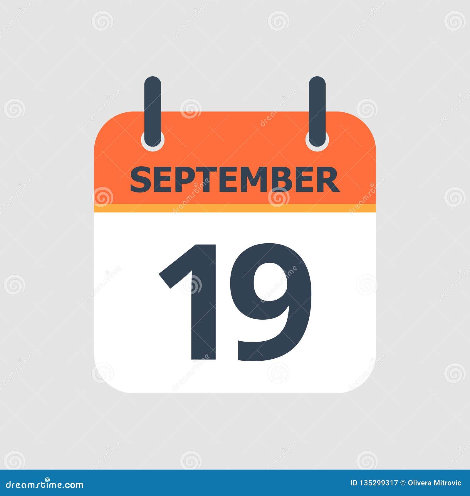 Calendário 19o setembro