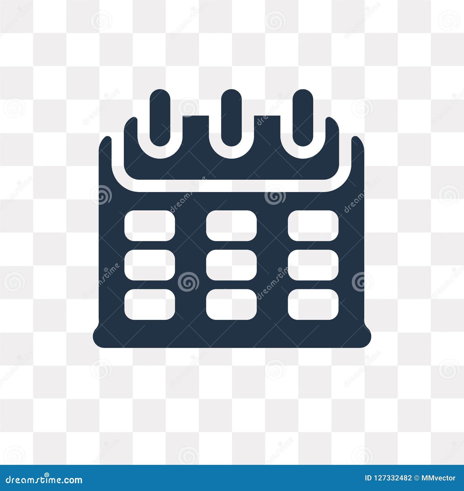 Calendar значок вектора изолированный на прозрачной предпосылке, Calenda