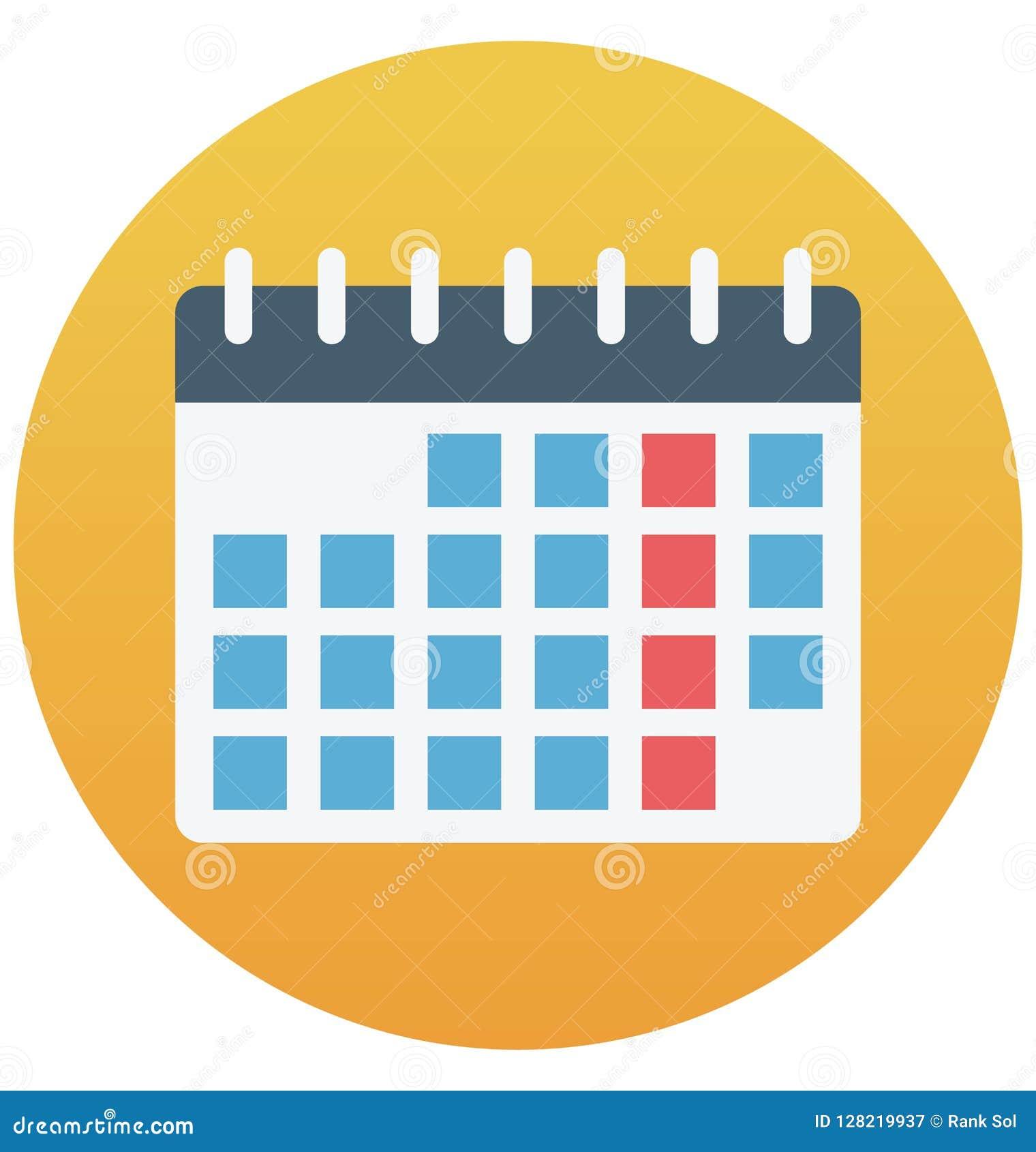 Calendar изолированный значок вектора который может быть легко редактирует или доработал