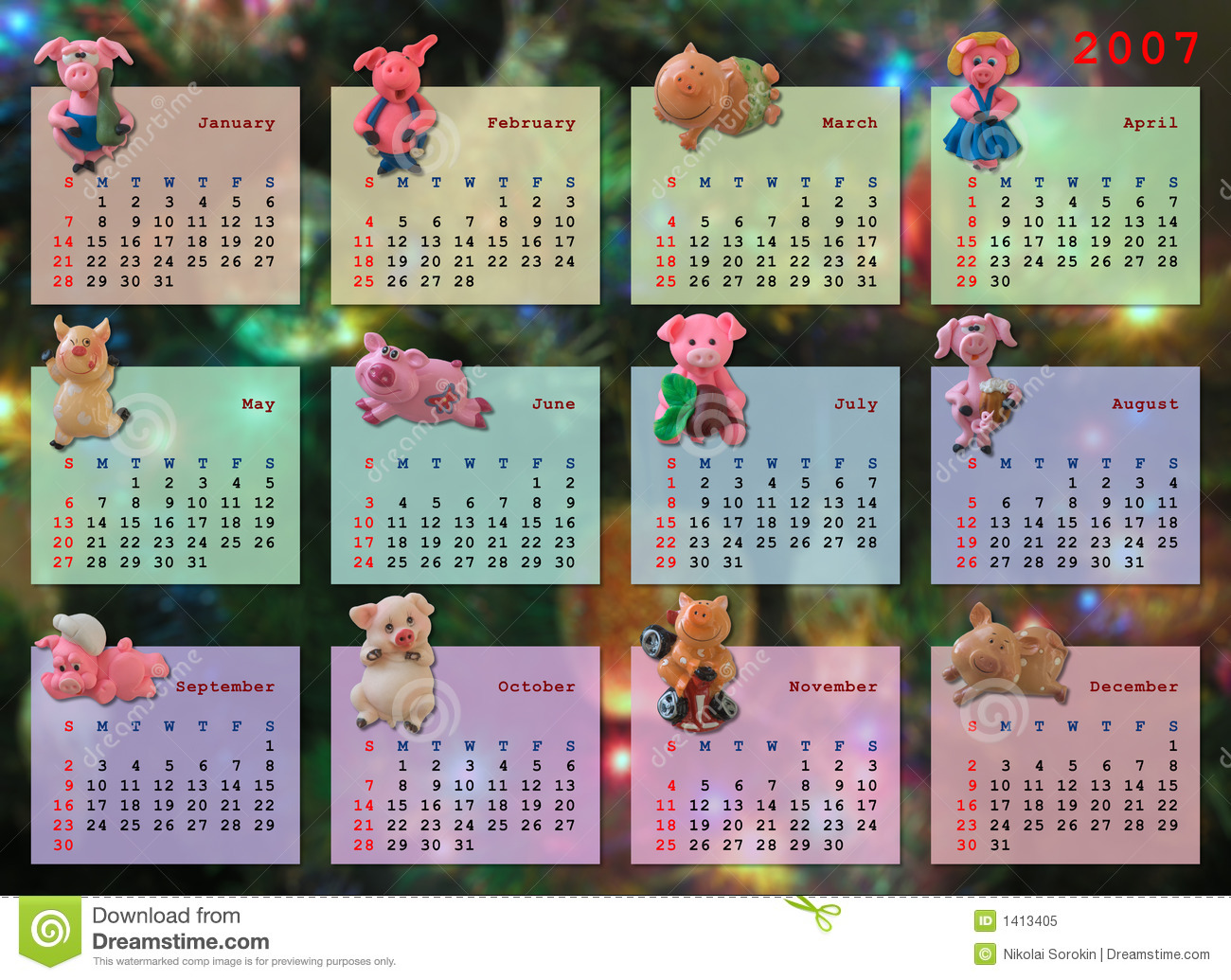 Calendar On 2007 Year Royalty Free Stock Photo