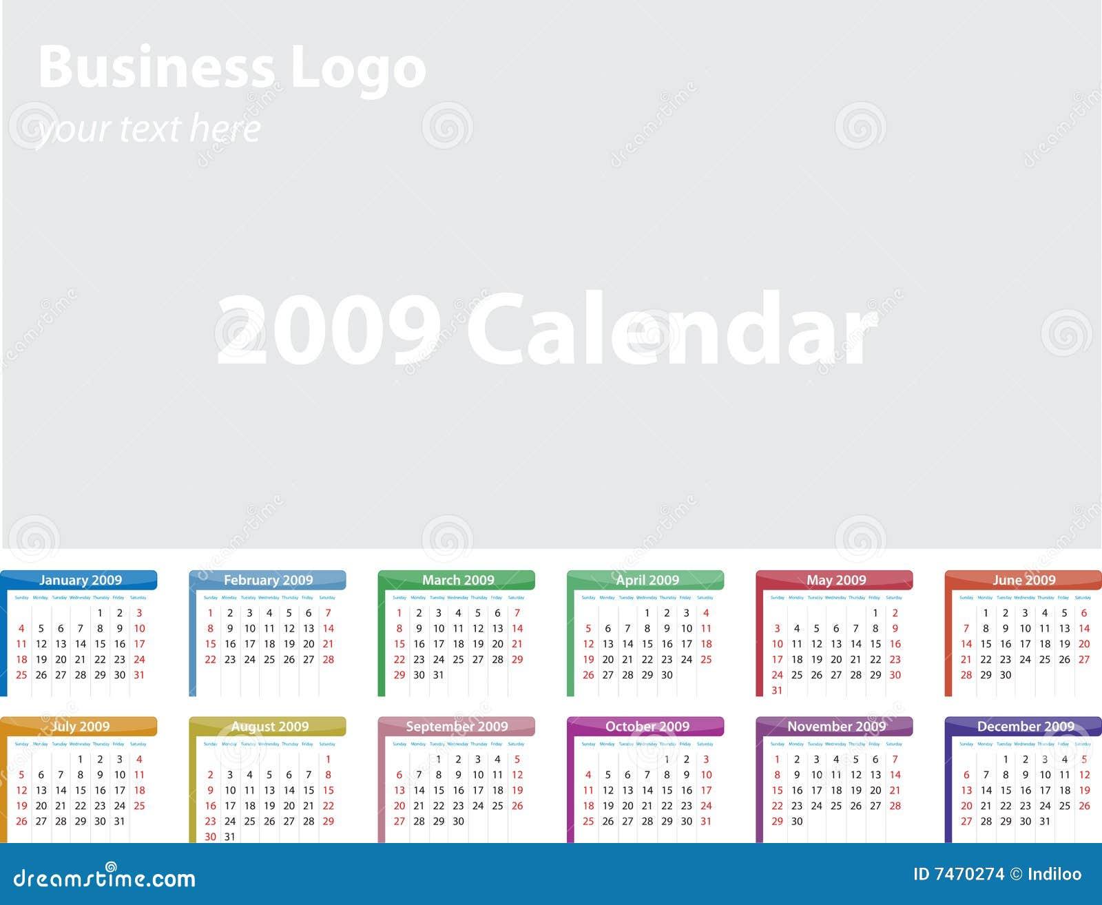 2009 calendar.