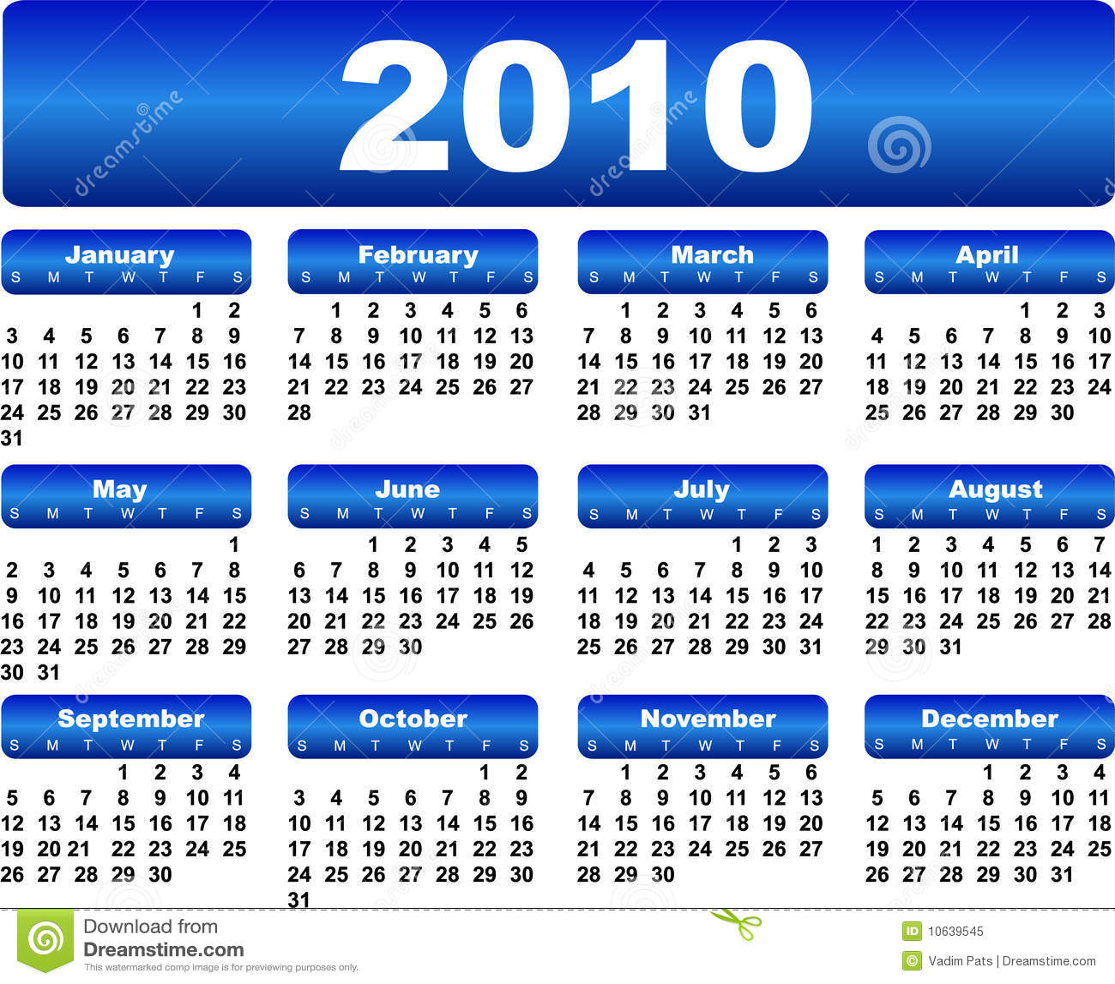 Calendar For 2010 Roya... August Calendar Clipart