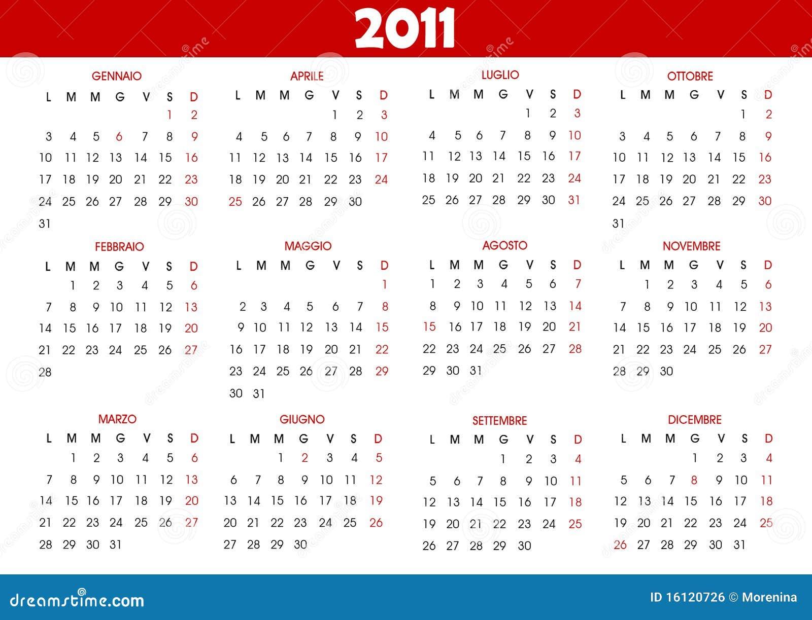 2011 Calendario.Calendar 2011 Stock Vector Illustration Of October