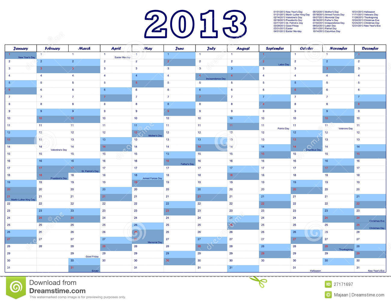 2013 Federal Holidays Observed | just b.CAUSE