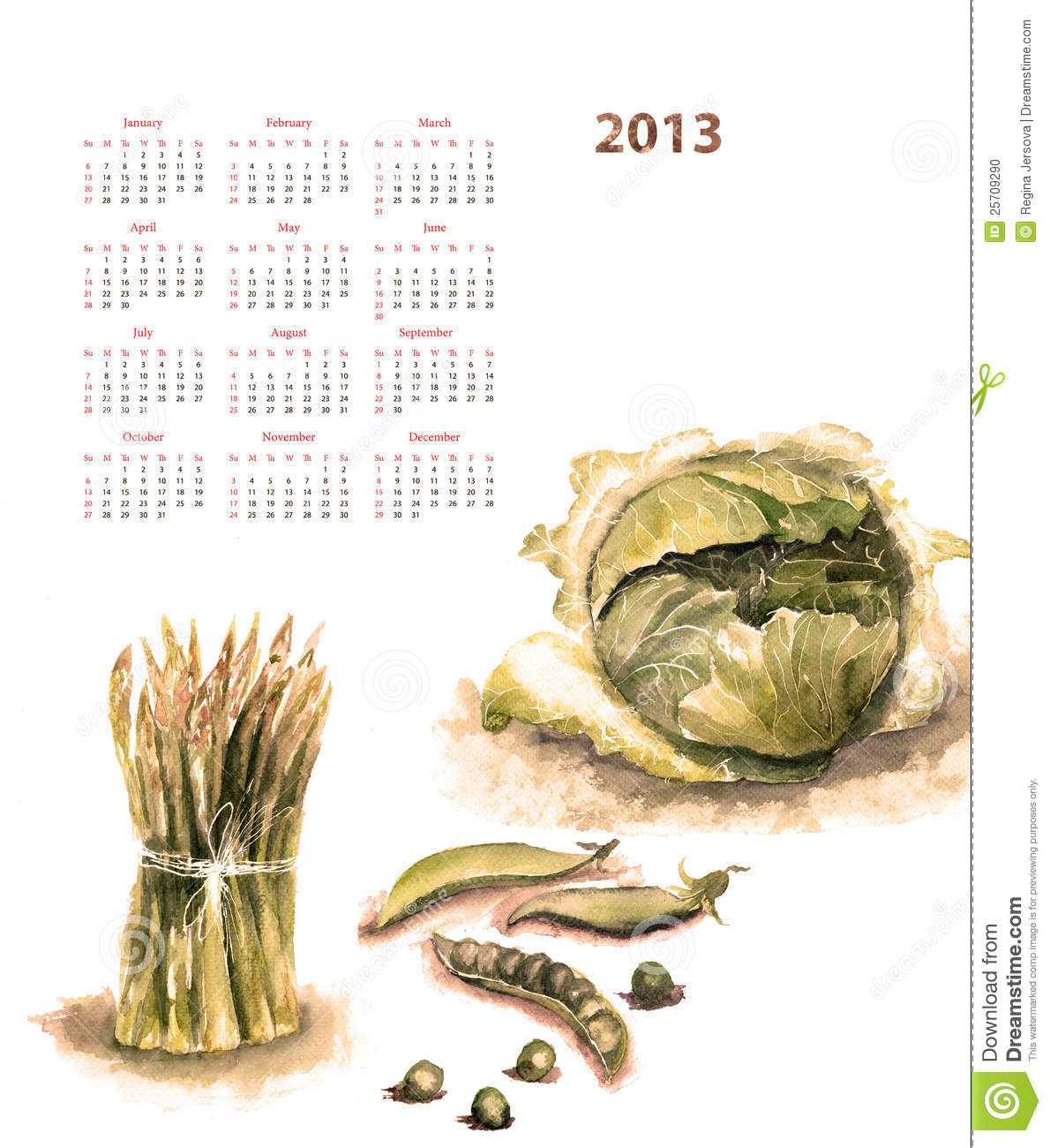More similar stock images of ` Calendar for 2013 with vegetable `
