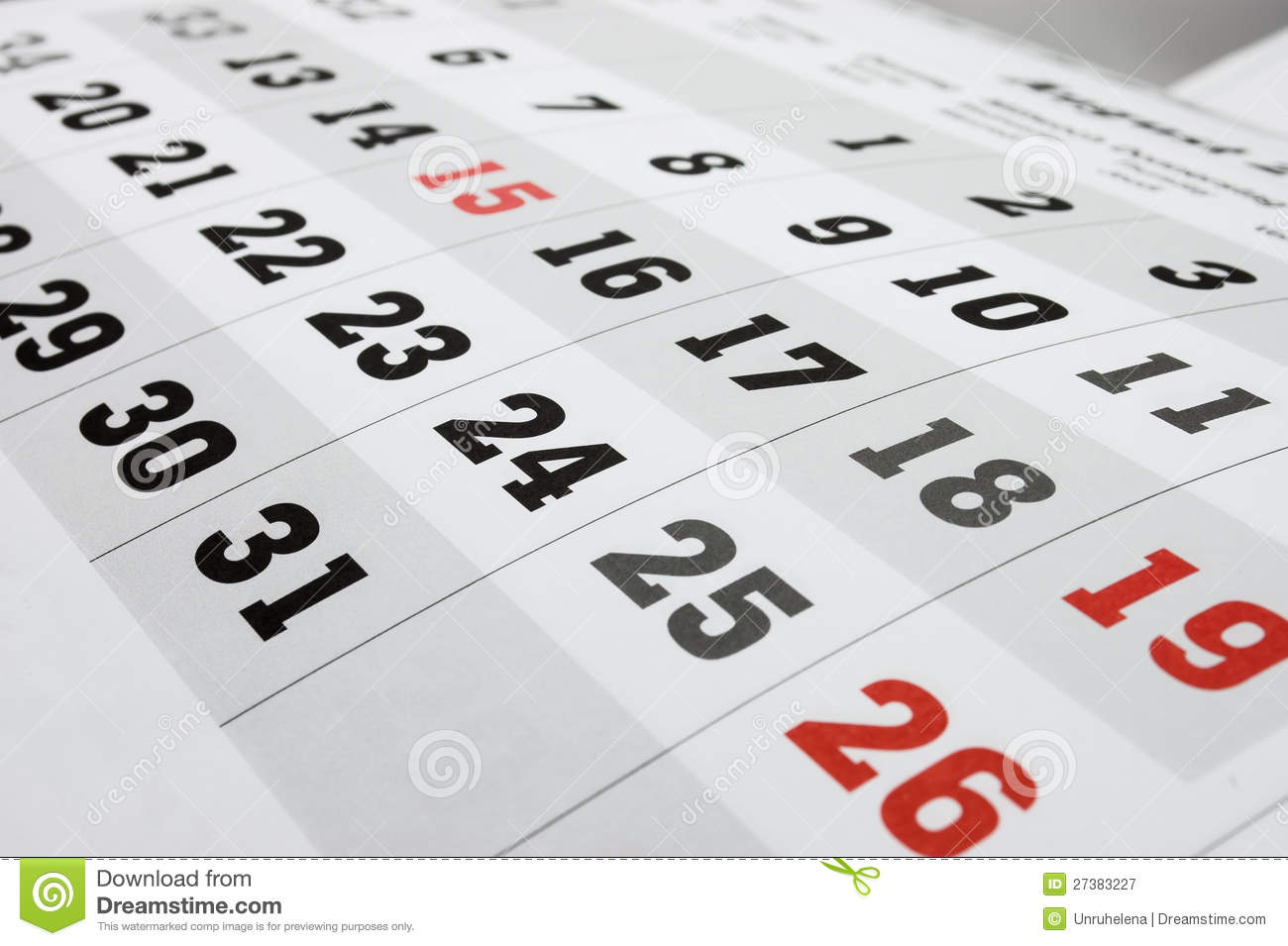 Calendar Royalty Free Stock Photography Image 27383227