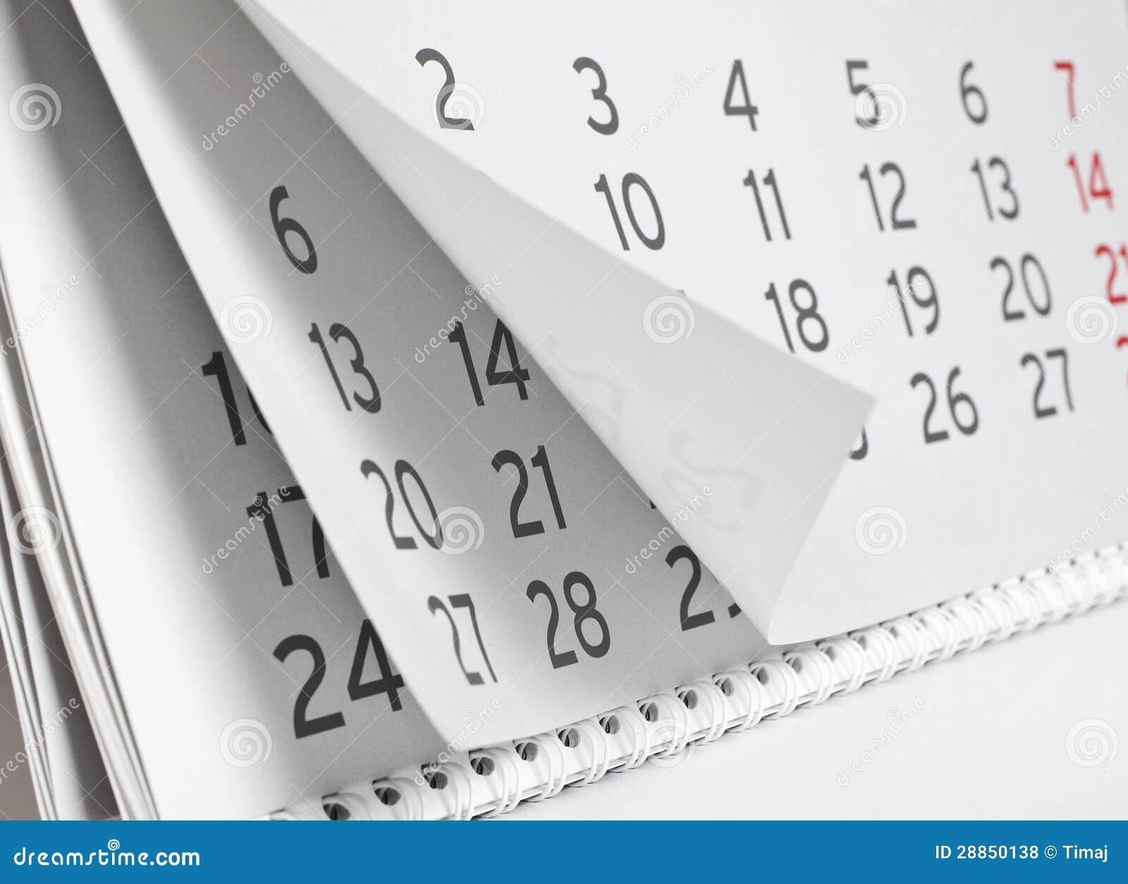 Calendar Stock Photo Image Of Office Agenda Memo Paper 28850138