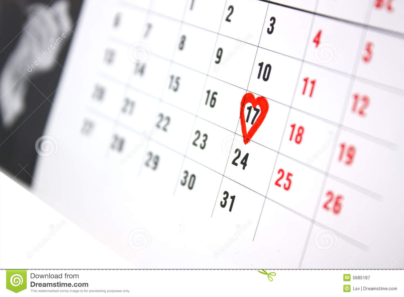 the calendar stock image image of number meeting seventeen 5685187