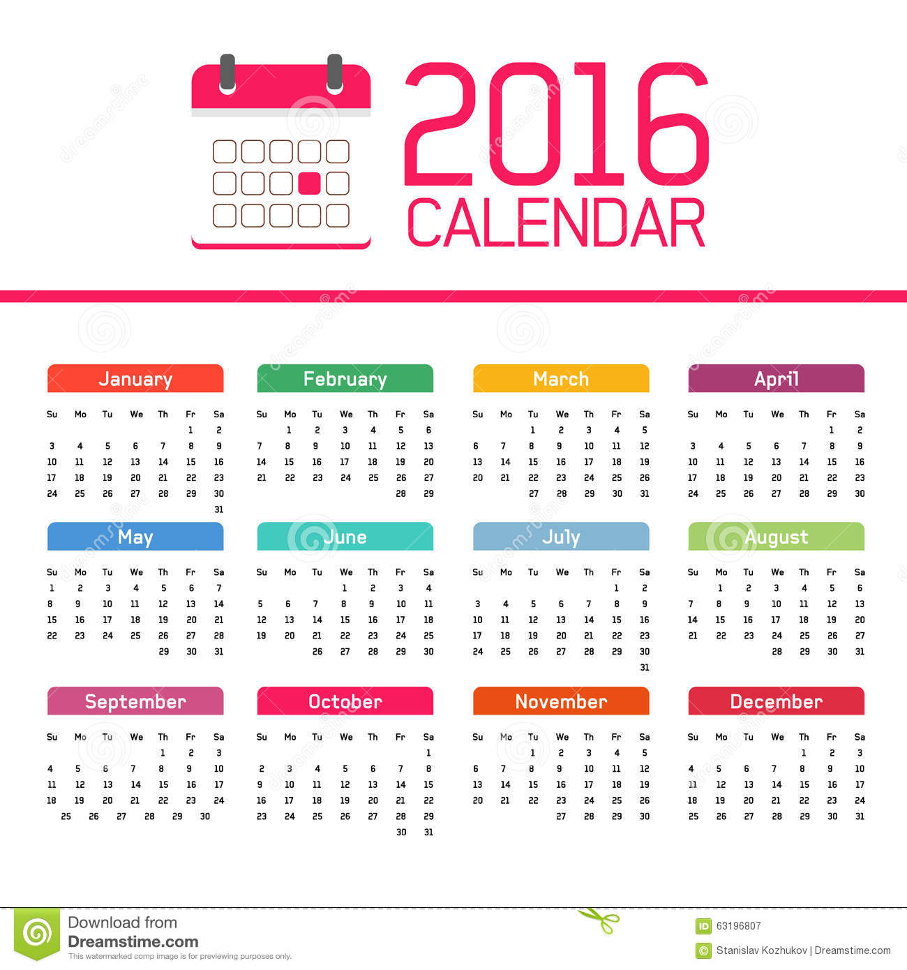 Calendar All Months : Calendar stock illustration of april