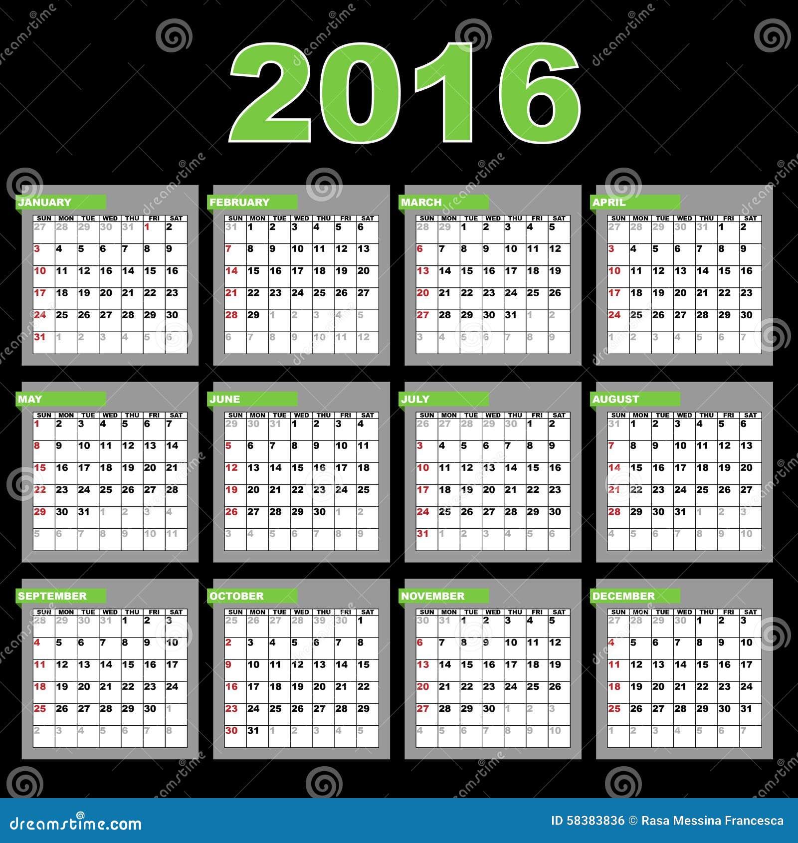 Calendar Design Eps File : Calendar stock vector illustration of annual