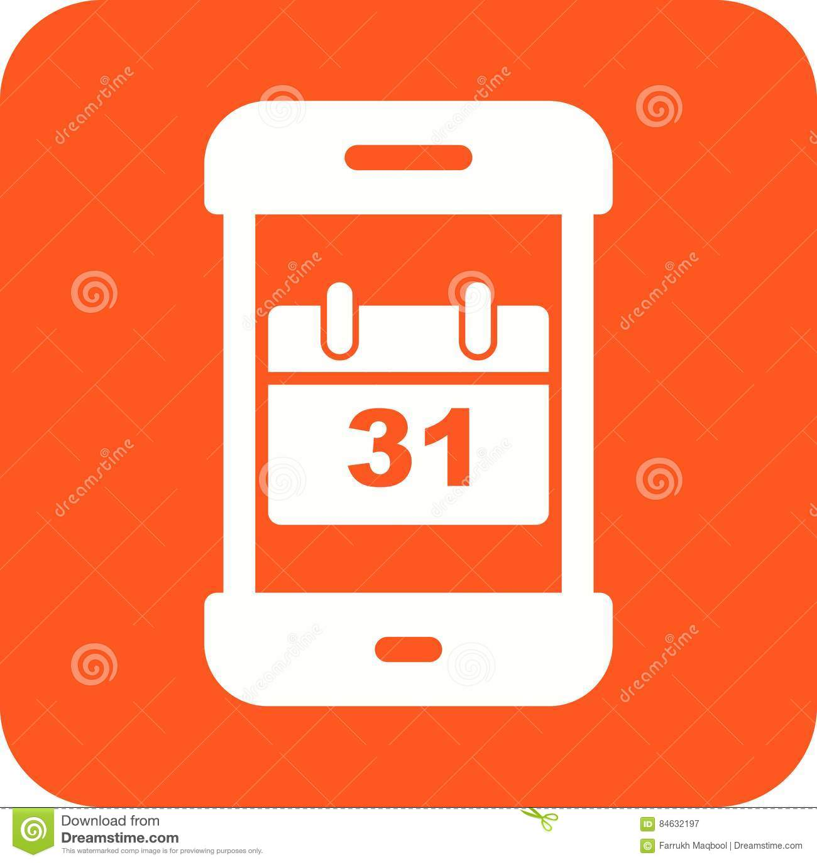 Calendar App stock vector  Illustration of concept, user