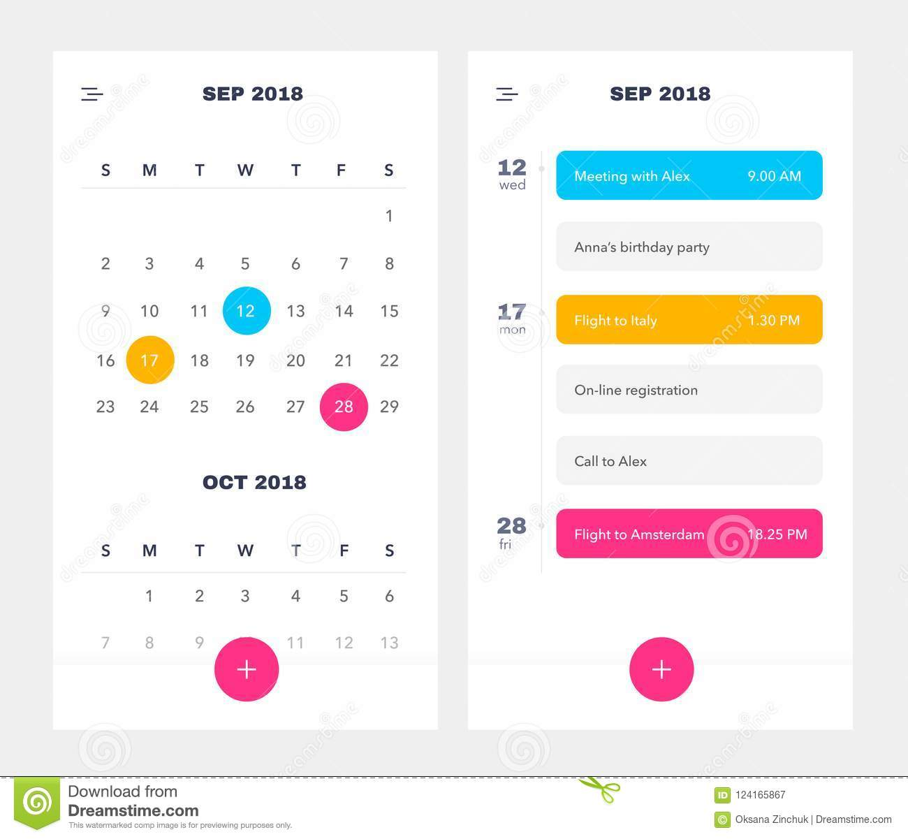 Calendar Application Template With To Do List And Tasks Ui Ux