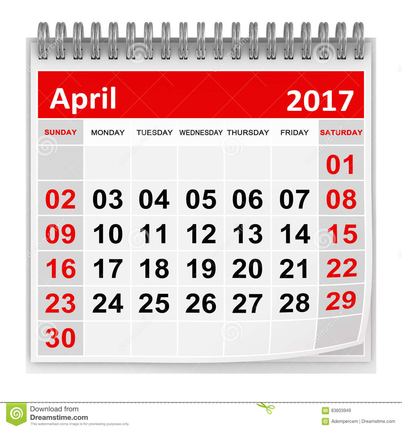 Xs Calendar April : Calendar april stock illustration image