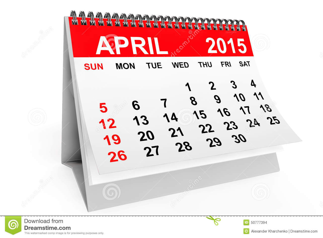 Xs Calendar April : Calendar april stock illustration of
