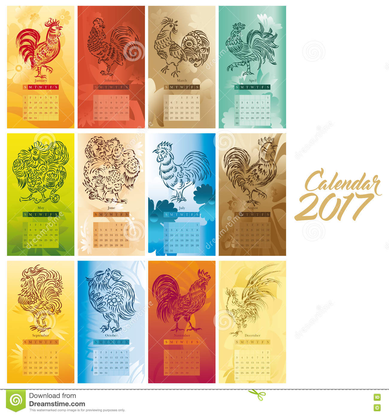 Chinese Calendar Illustration : Calendar artwork stock illustration of