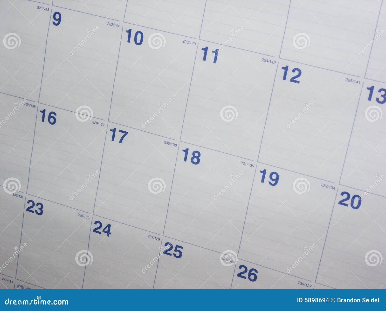Calendar Background Stock Images - Image: 5898694