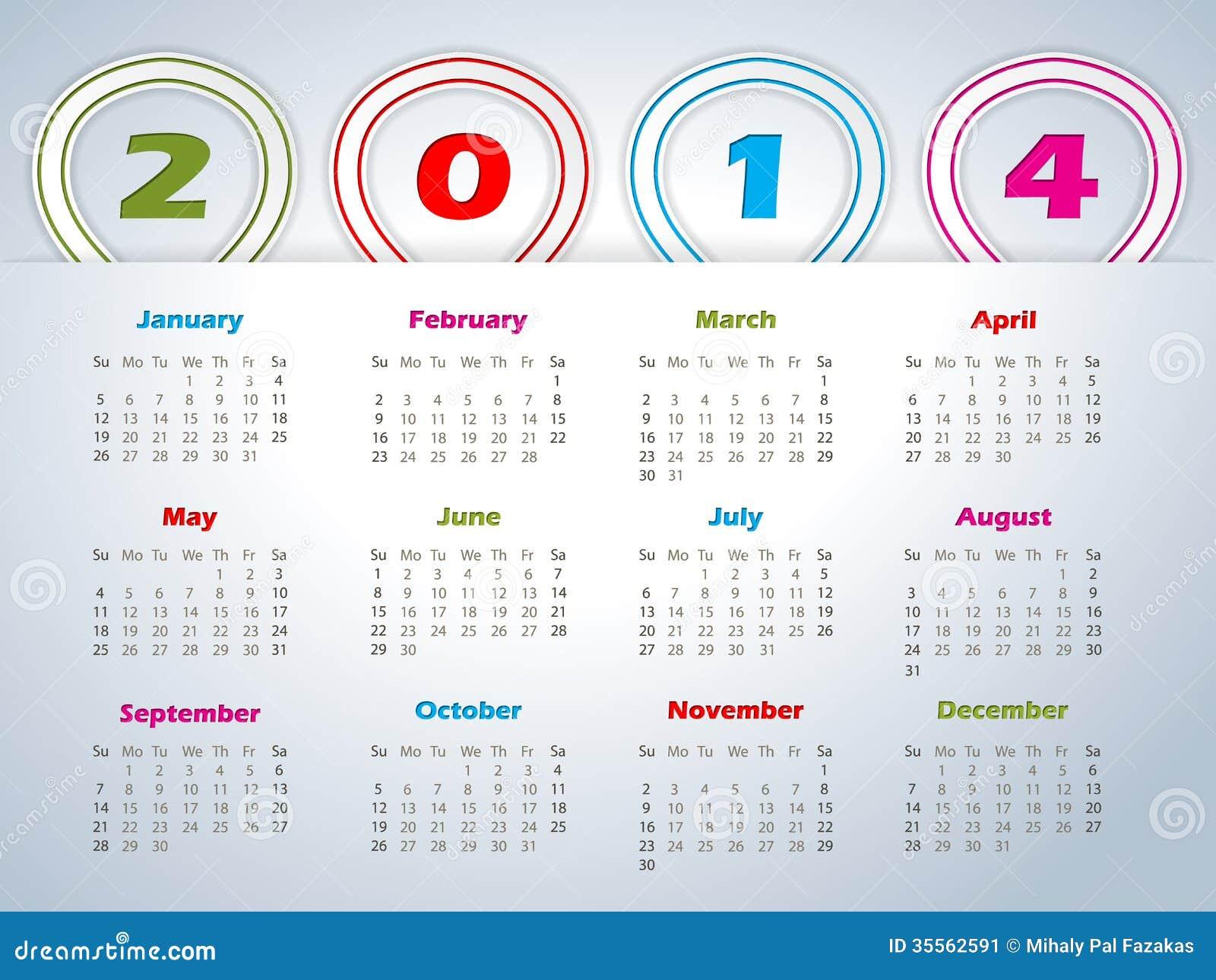 Calendar Ribbon Design : Calendar with balloon shaped ribbons stock image