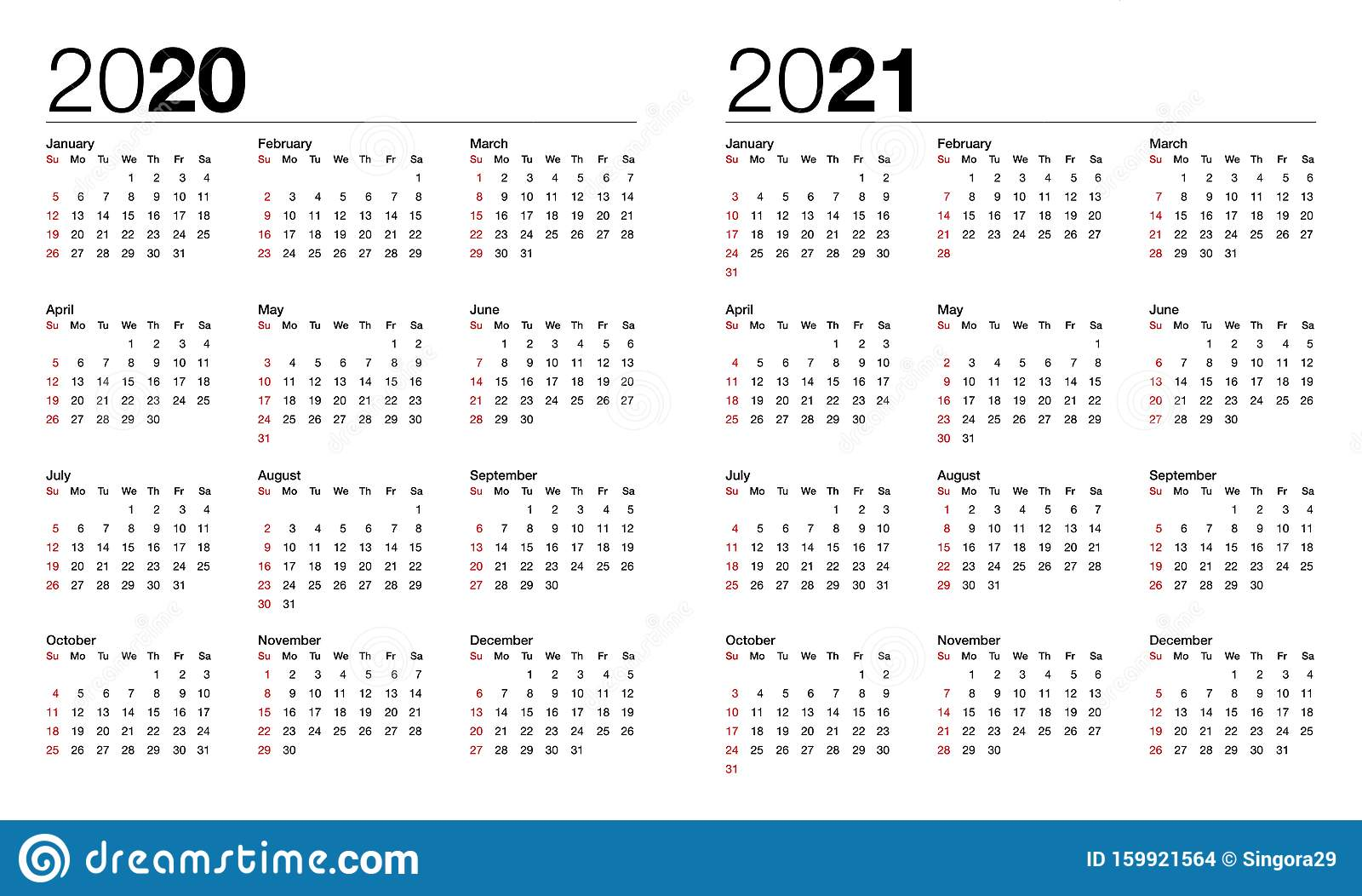 Calendar for 20 and 20 stock vector. Illustration of november ...