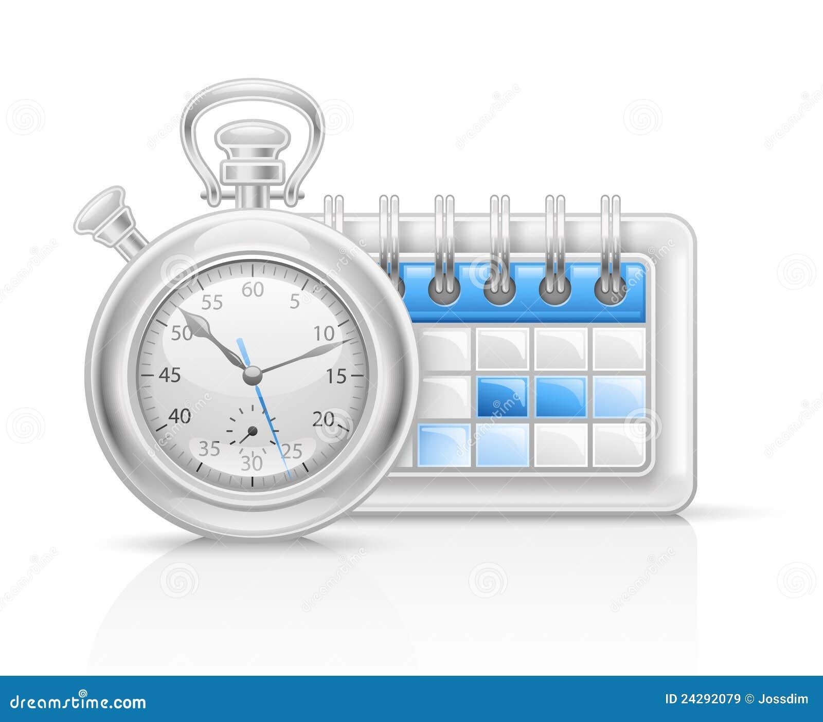 calendar clock icon stock vector  image of design  empty