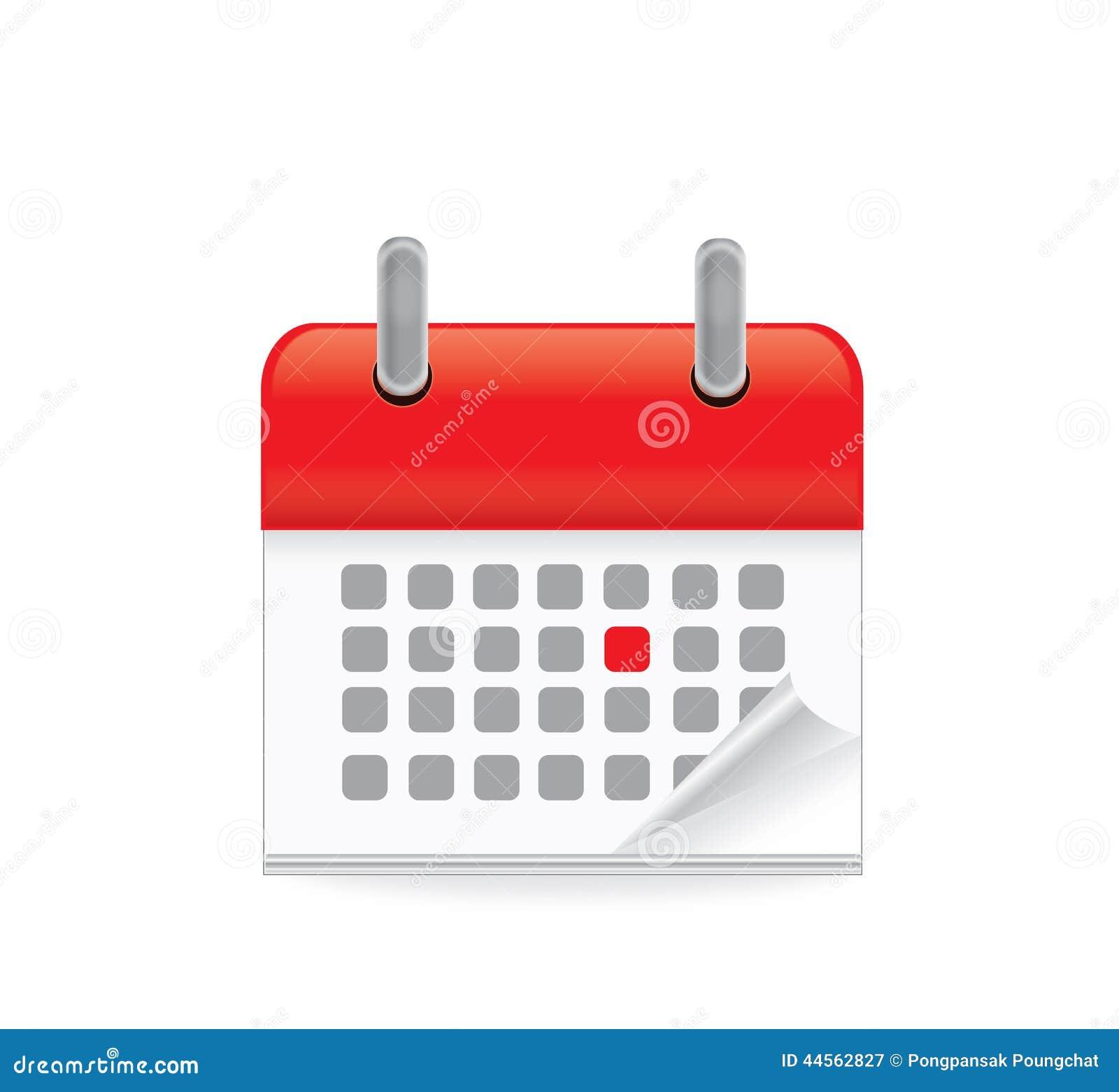 Calendar Day Vector Art : Calendar clock icon stock illustration of