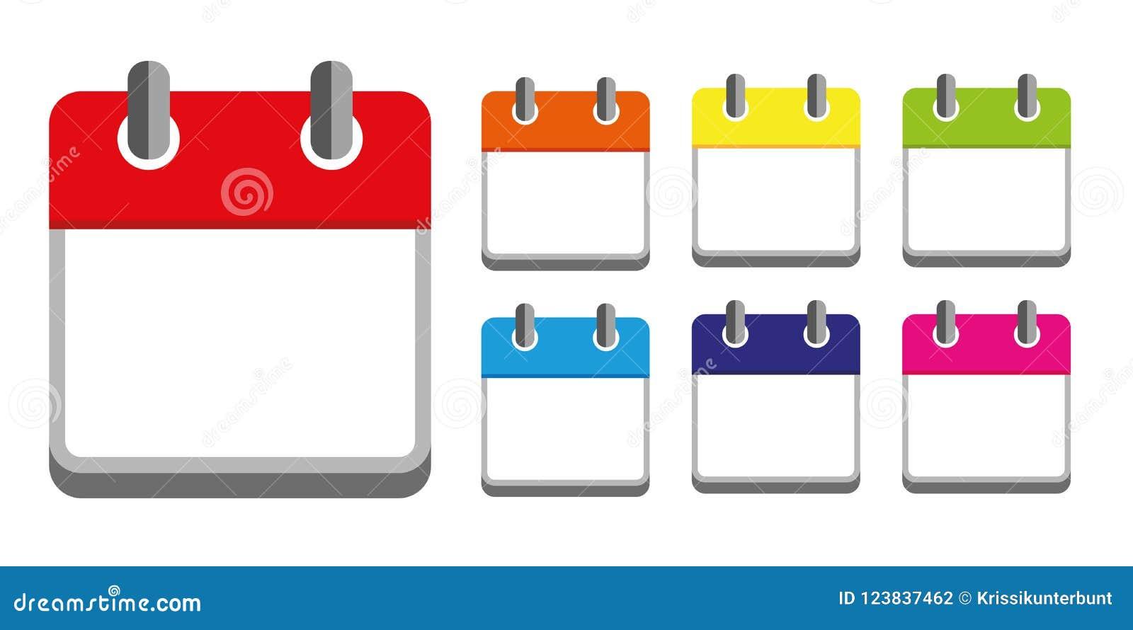 Calendar Flat Daily Icon Vector Illustration Emblem