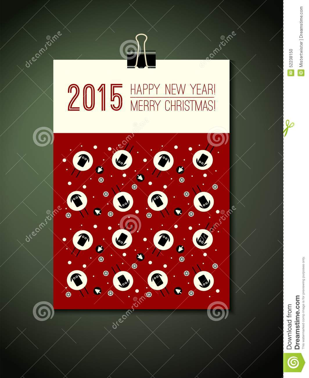Cover Calendar Design Vector : Calendar year with decorative pattern cartoon vector