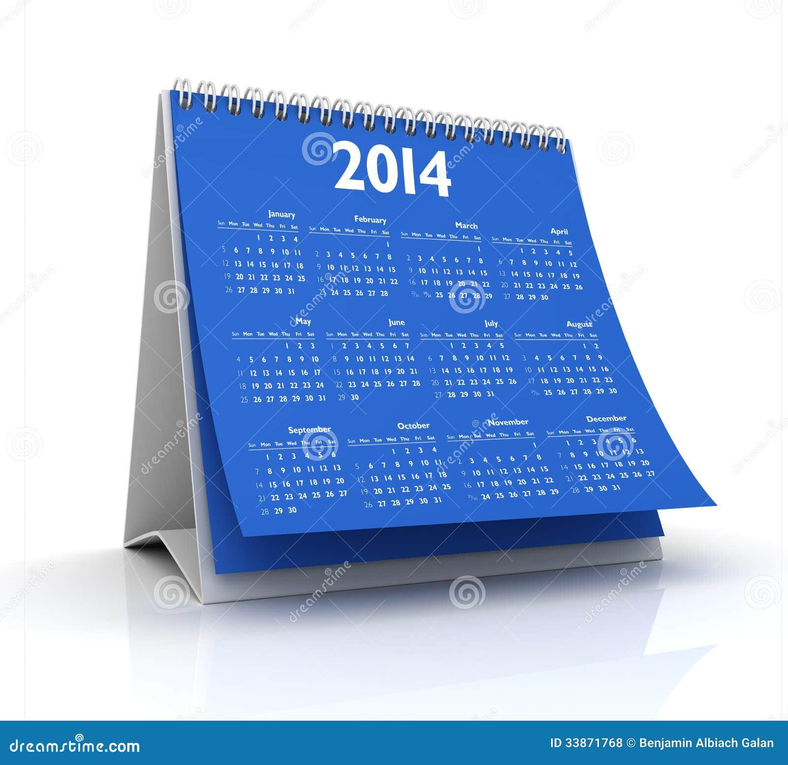 Desktop Wallpaper January 2014: Calendar 2014 Royalty Free Stock Photos
