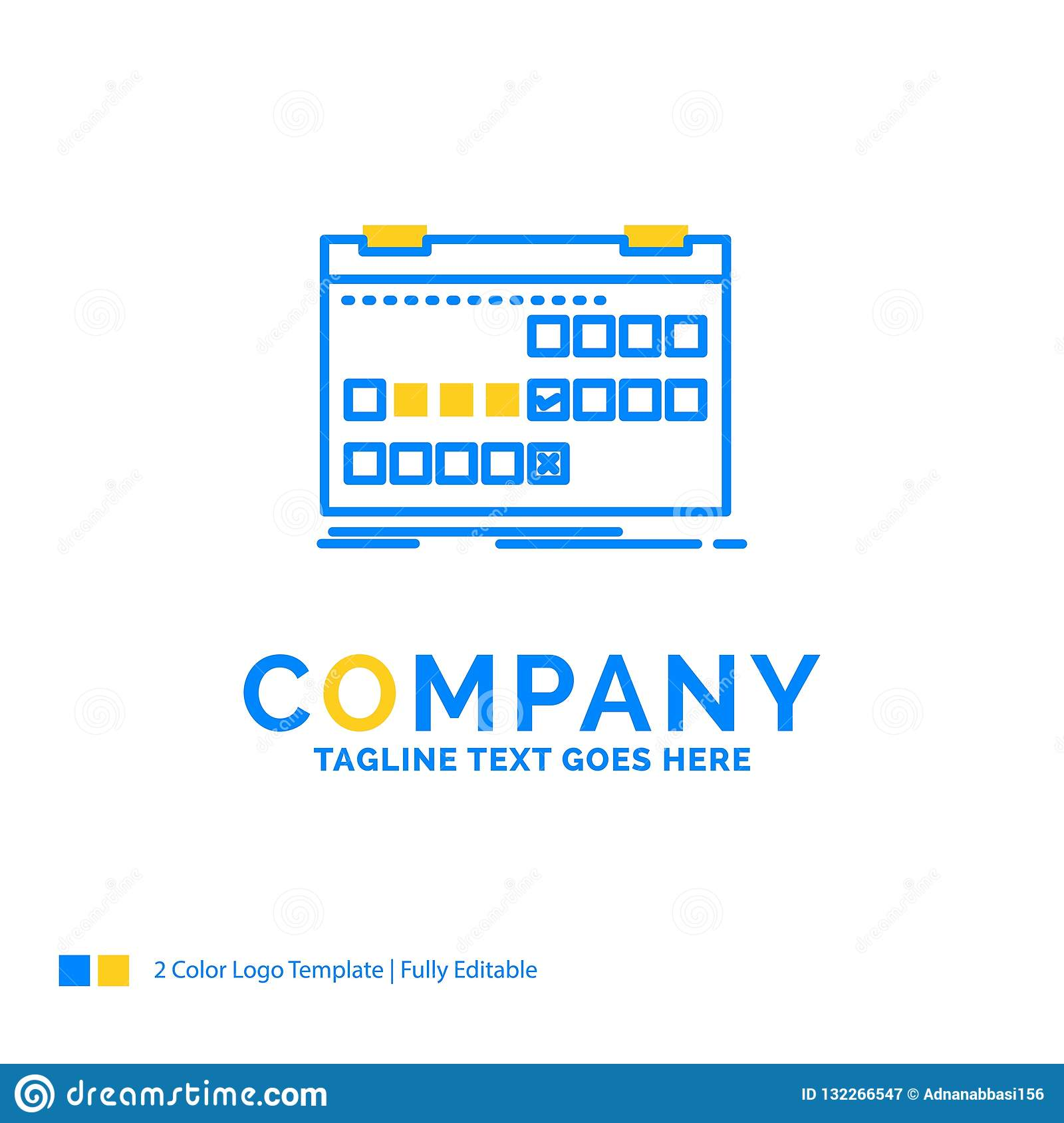 Calendar Date Event Release Schedule Blue Yellow Business Lo