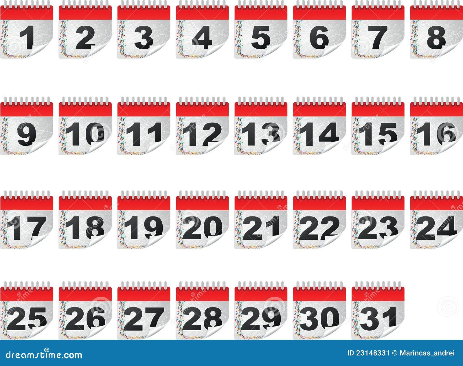 Calendar Days Stock Image - Image: 23148331