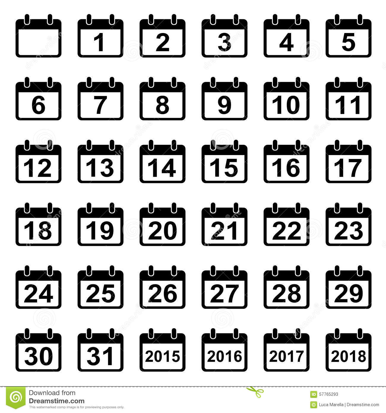 Calendar Days : Calendar icons set vector illustration cartoondealer