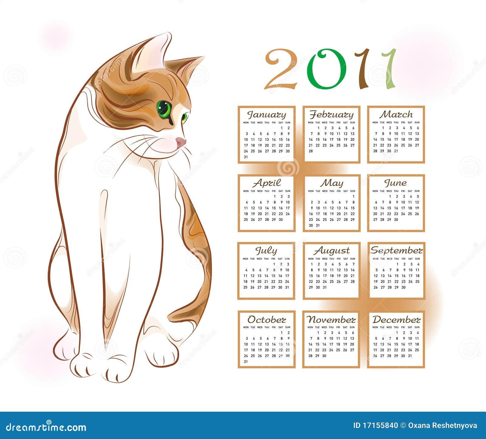 Illustration Calendar Design : Calendar design stock vector illustration of rust