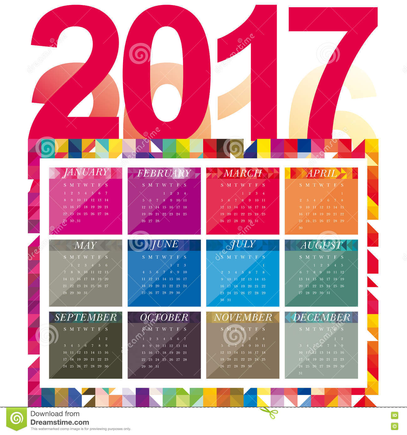 New Year Calendar Designs : Calendar design stock illustration image