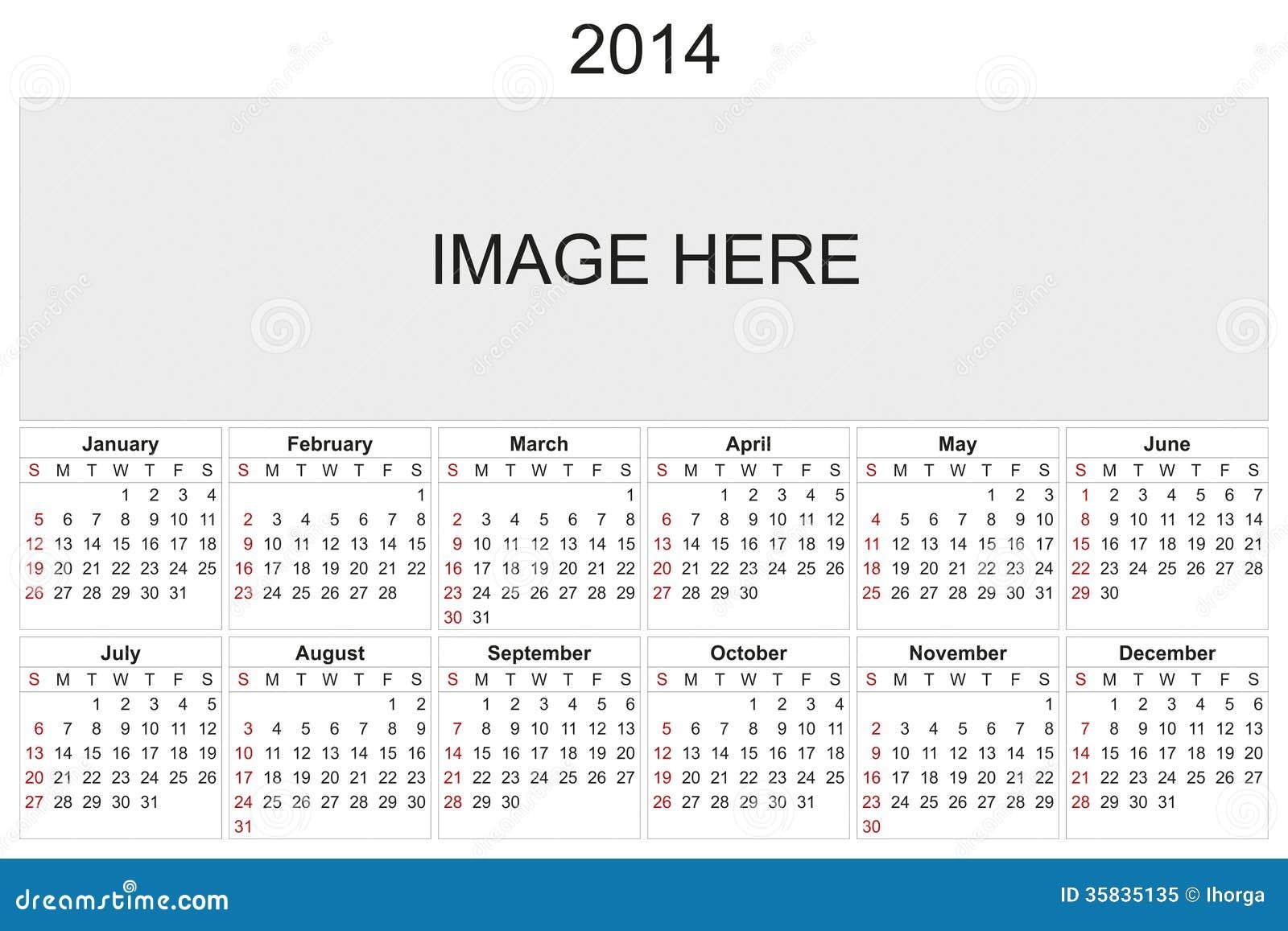 Calendar Design Using Photo : Calendar royalty free stock photo image