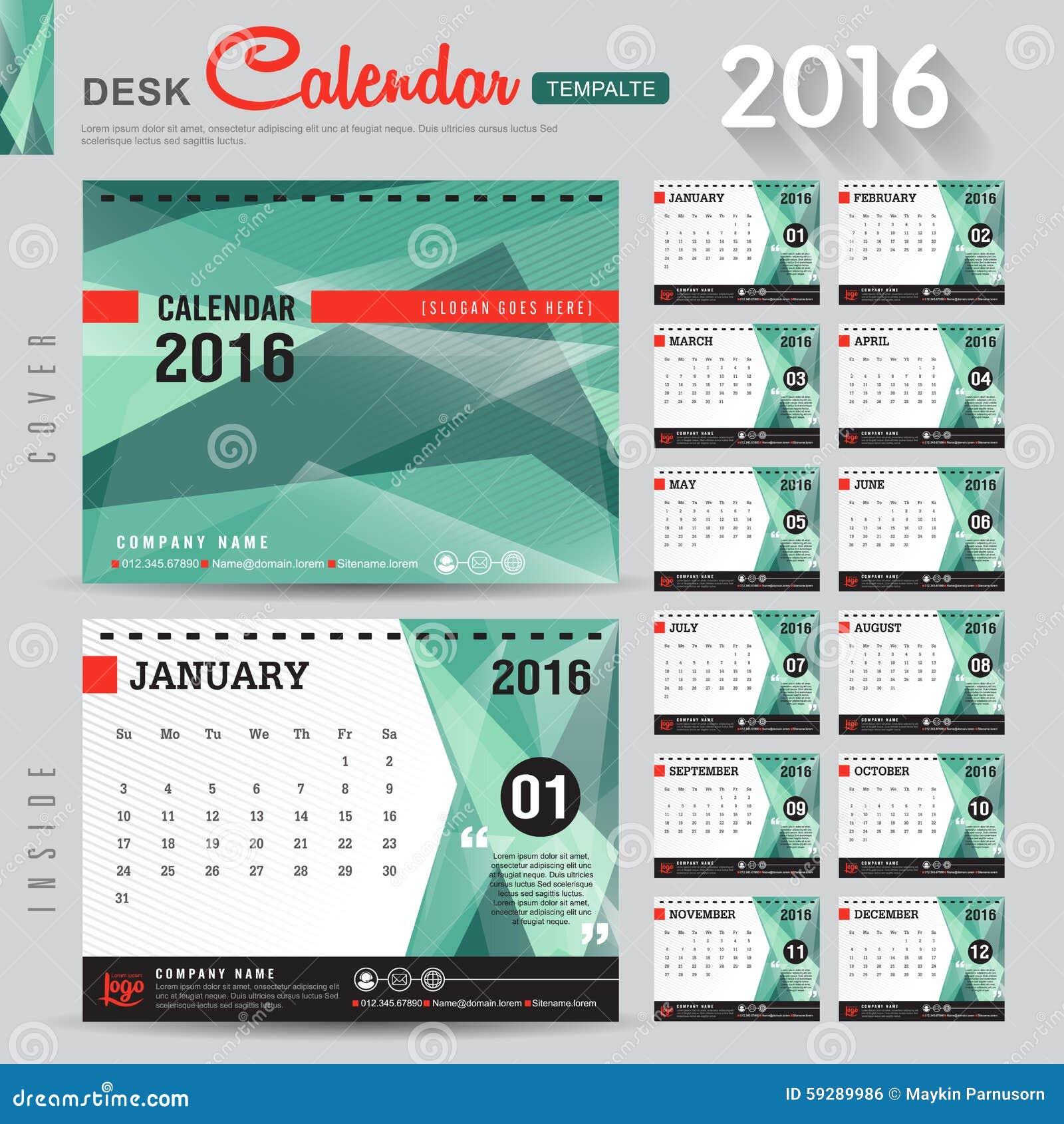 Table Calendar Design Samples : Calendar stock vector image of company august