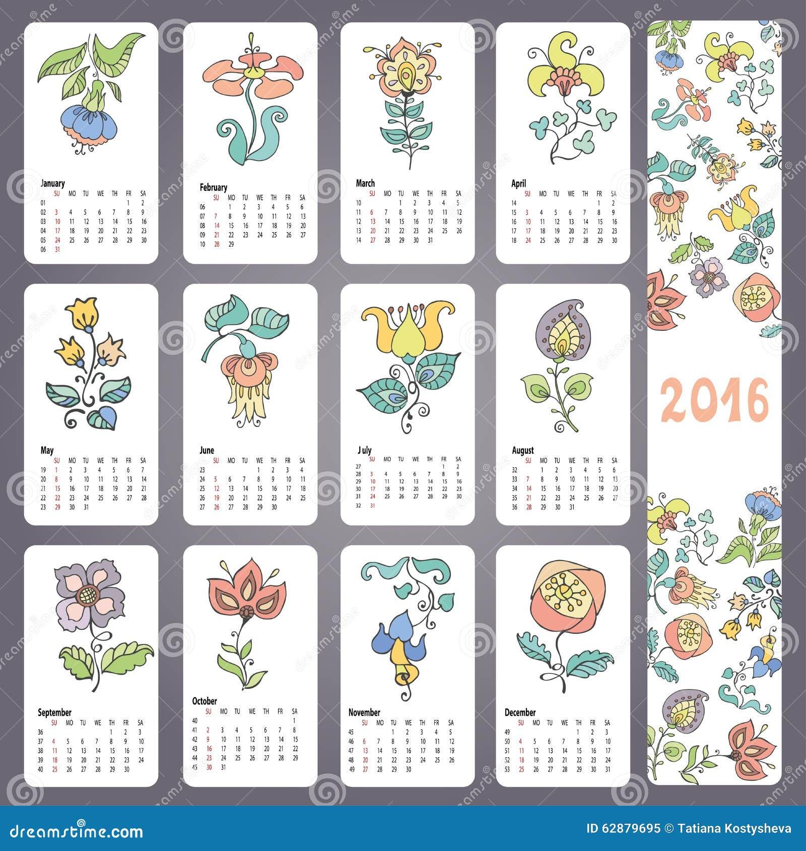 Calendario 2018 Week