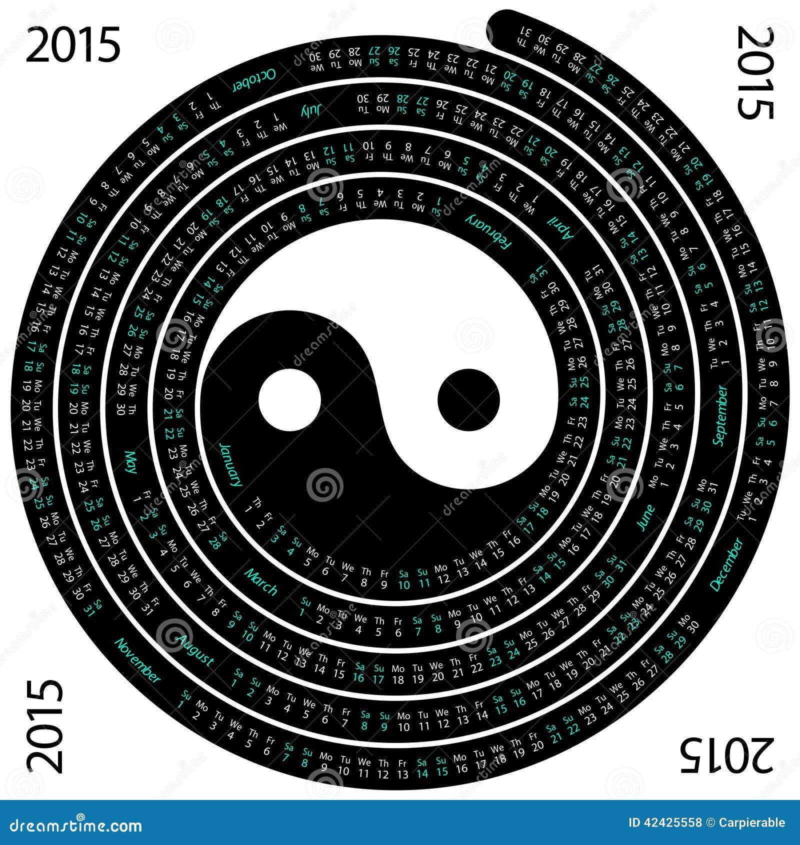 2015 Spiral Calendar Cartoon Vector Cartoondealer Com