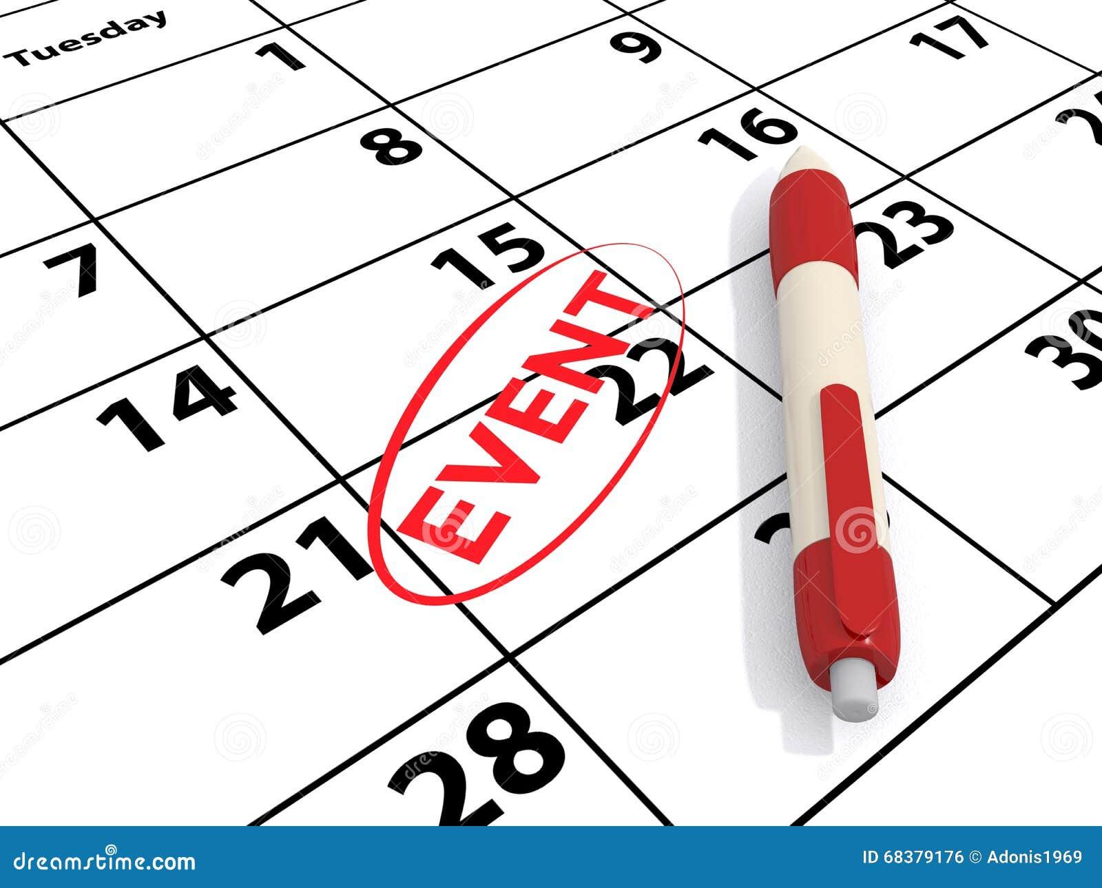 Calendar and event