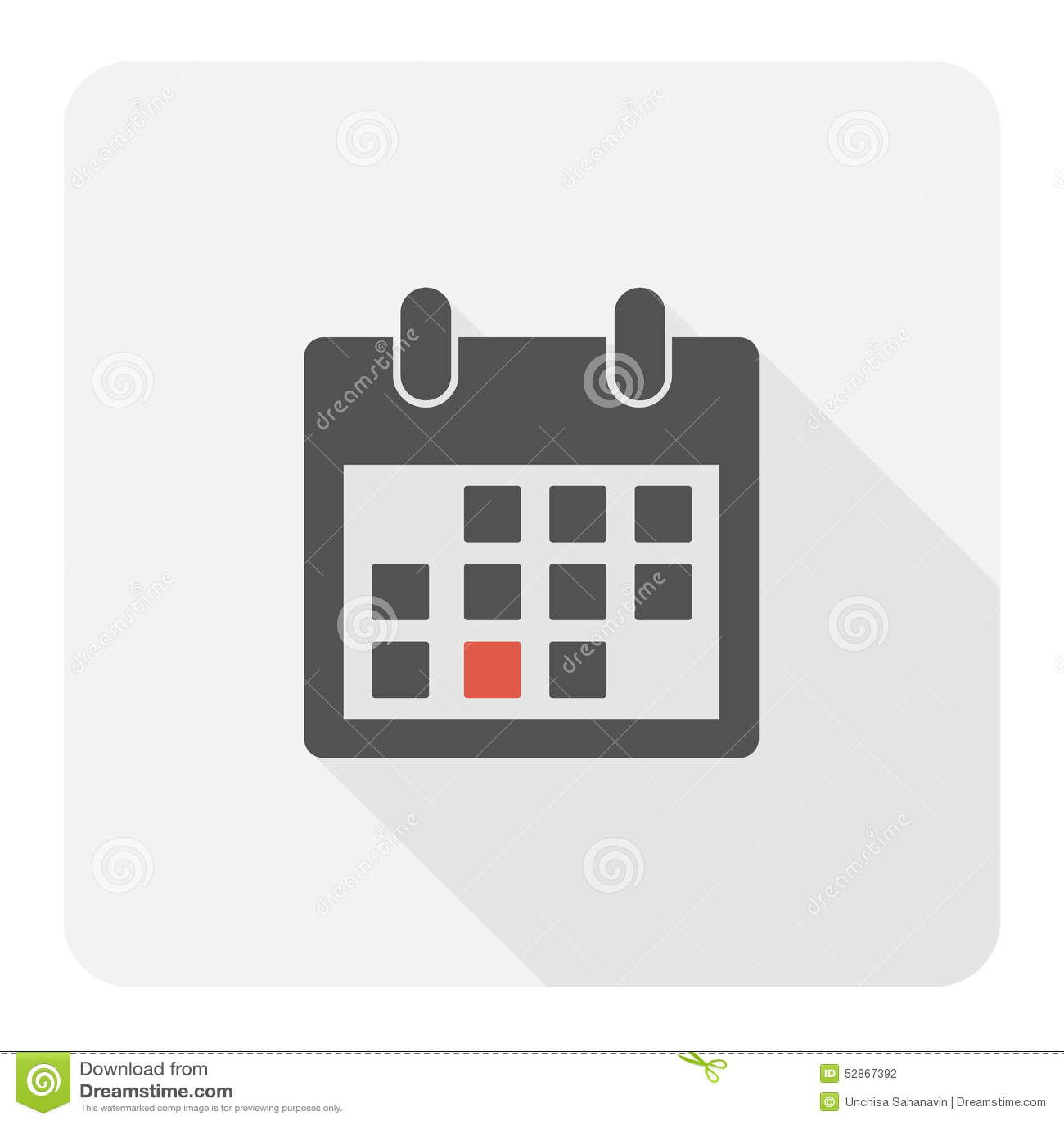 Calendar Flat Illustration : Calendar flat icon stock vector image