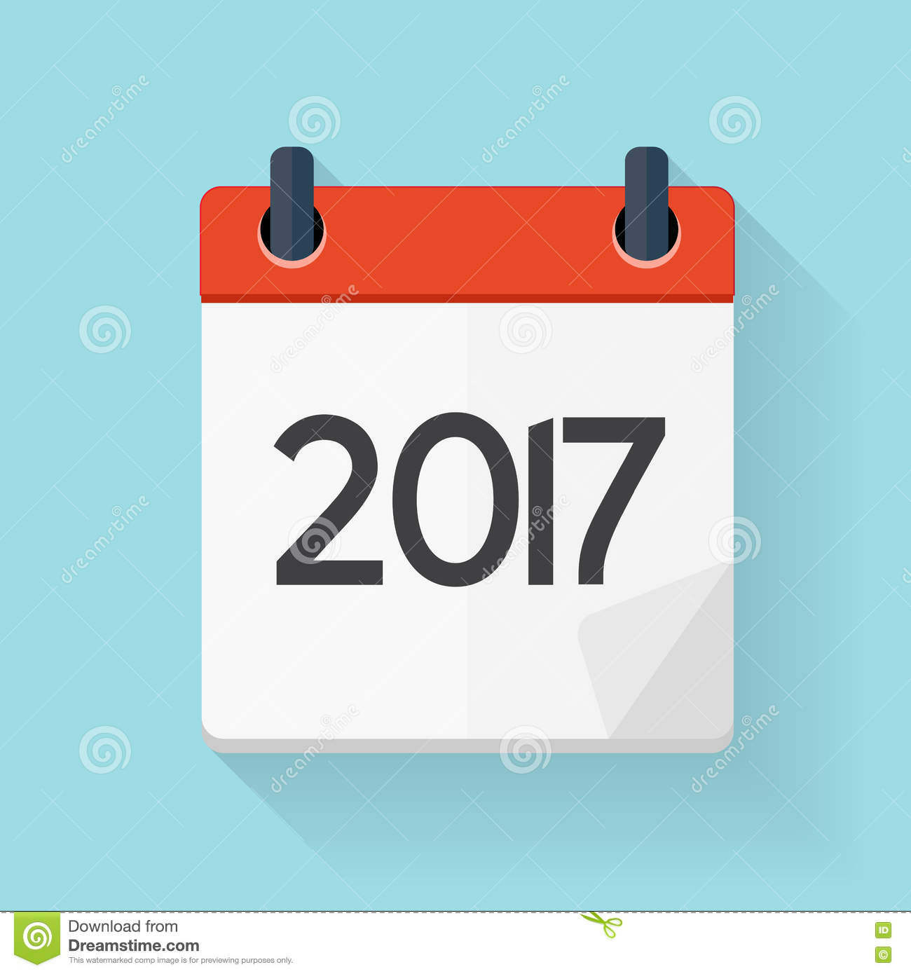 Calendar Design Free Vector : Calendar flat daily icon vector illustration emblem