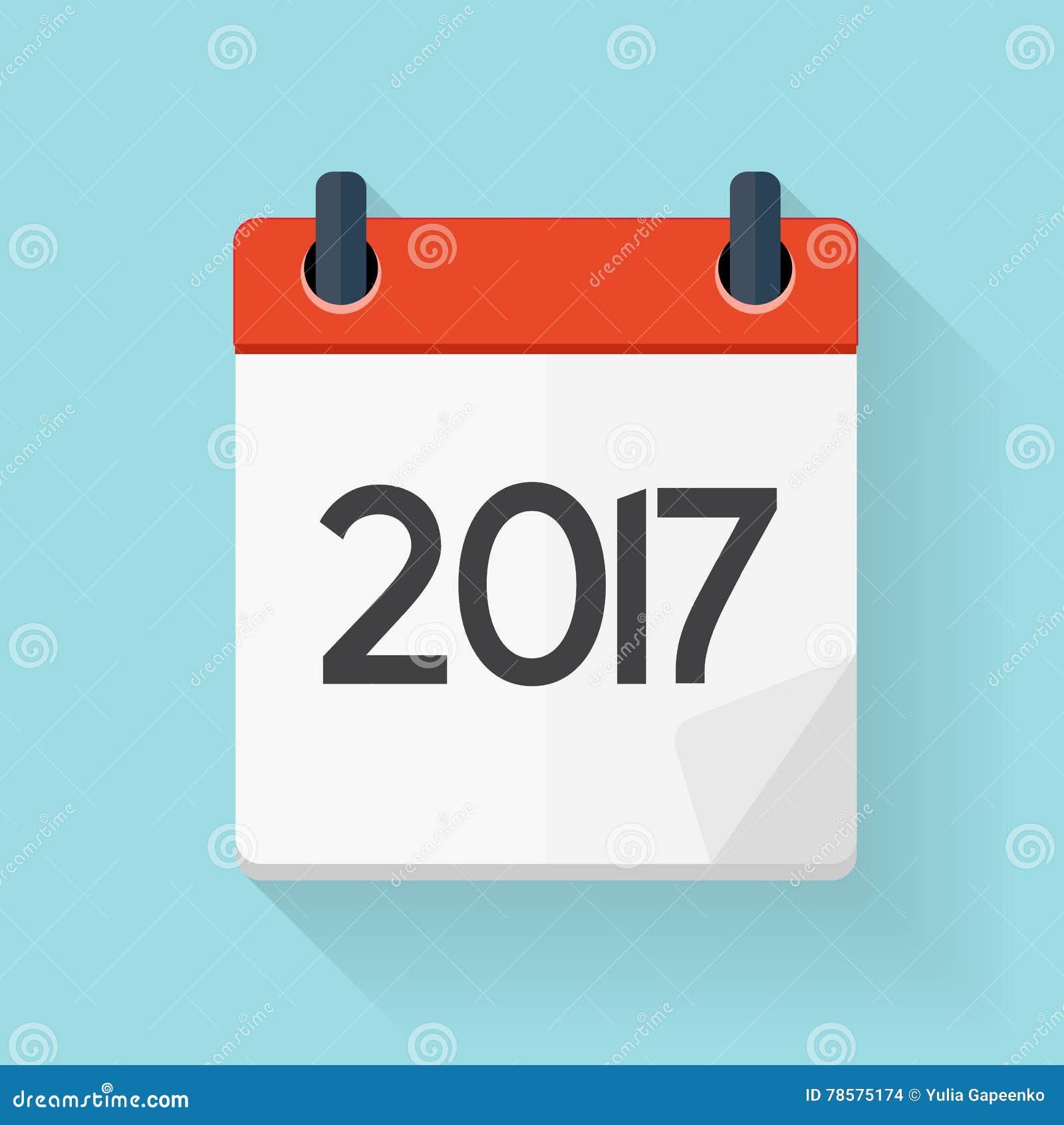 Calendar Flat Illustration : Calendar flat daily icon vector illustration emblem