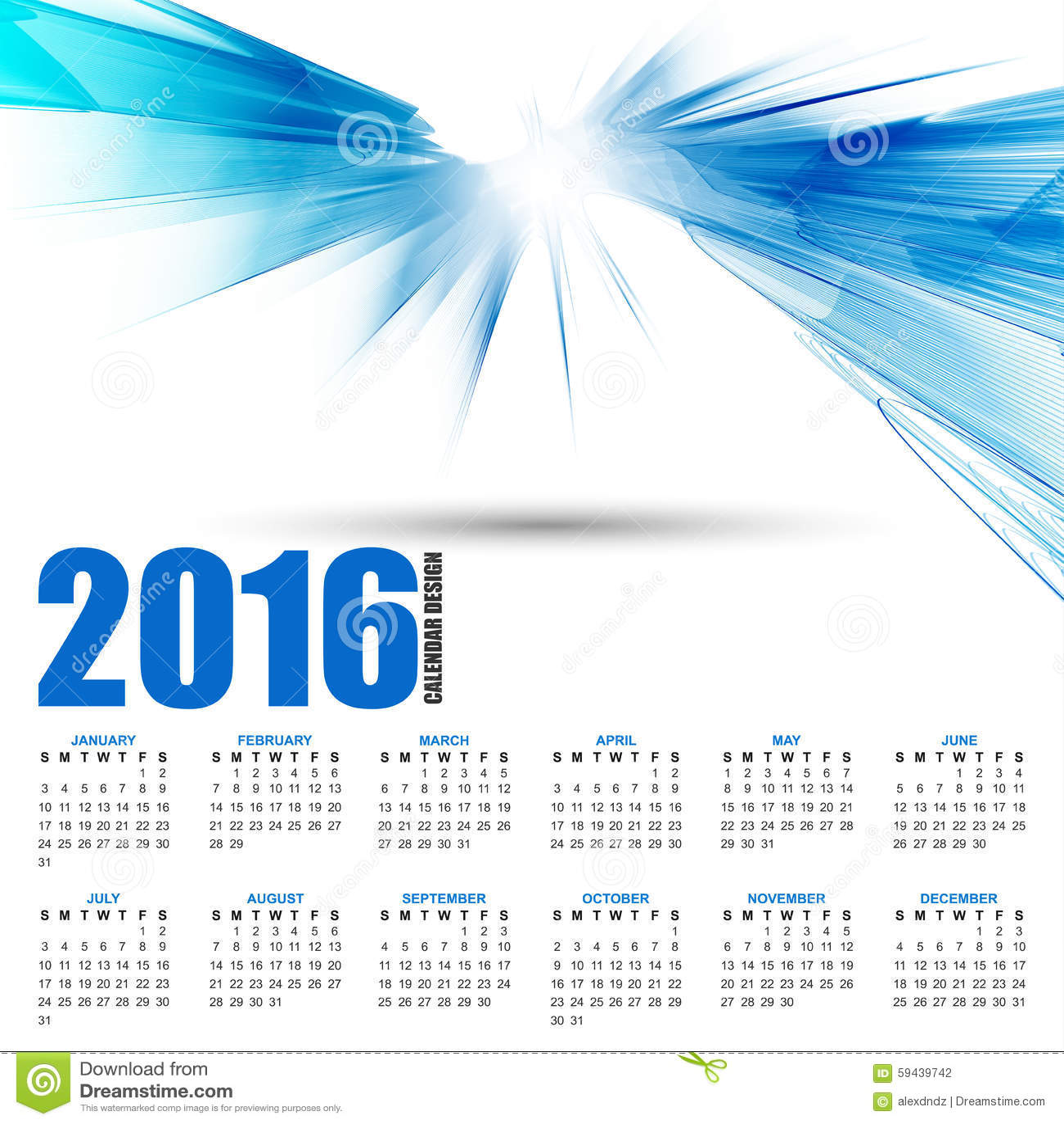 Calendar Background Design : Calendar for on futuristic wavy background stock