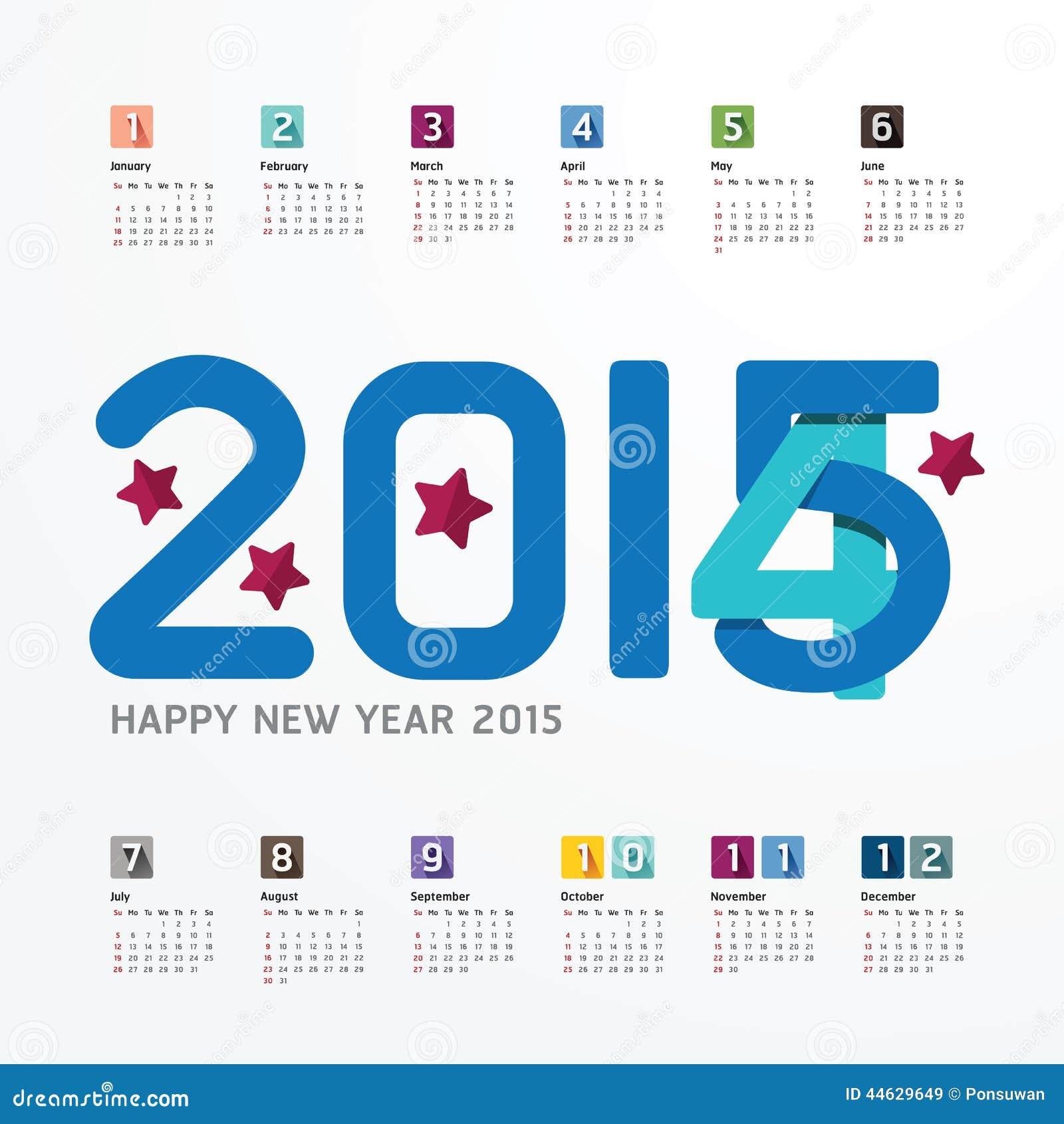 Calendar Design For New Year : Calendar happy new year design