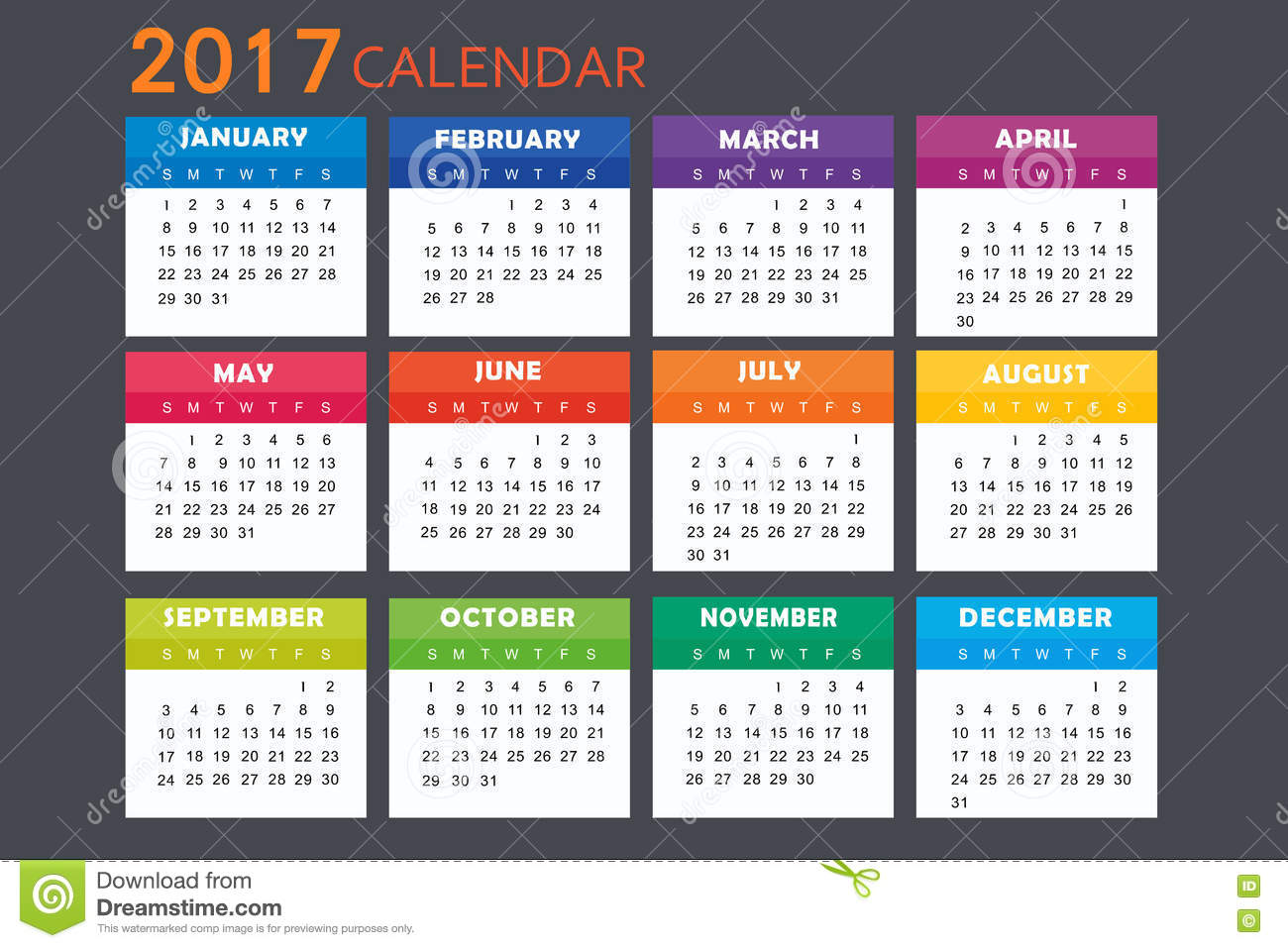 New Year Calendar Design : Calendar for stock vector image of graph celebrate