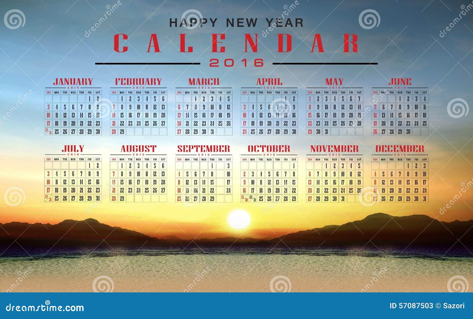 Happy New Year Calendar : Calendar and happy new year stock illustration